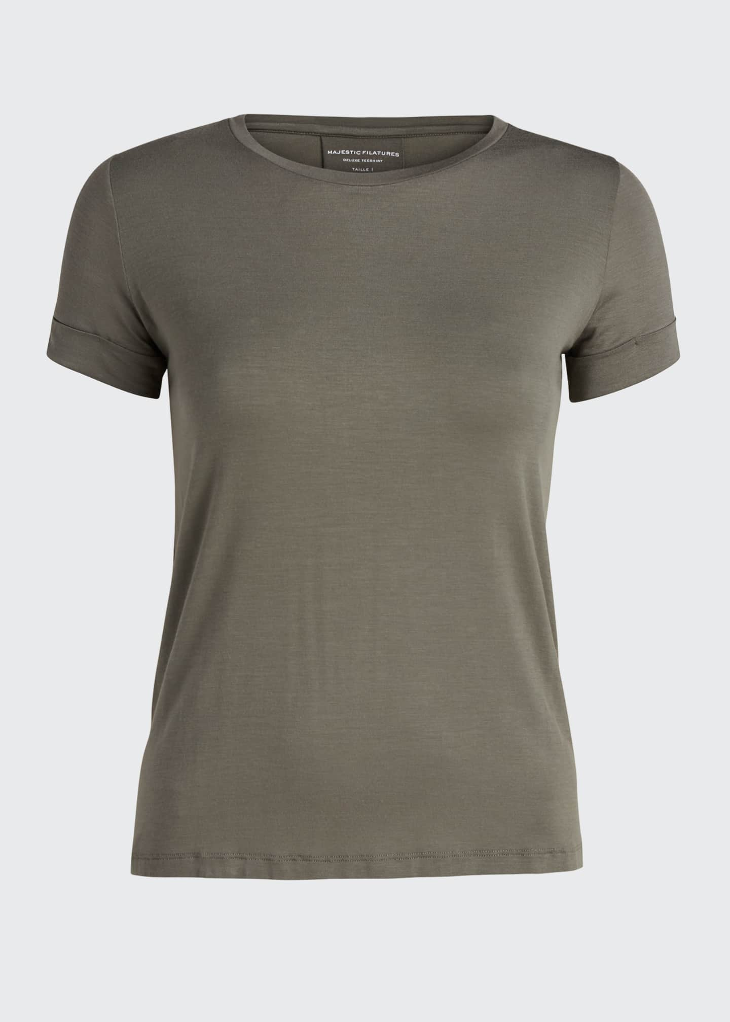 Image 5 of 5: Semi-Relaxed Crewneck T-Shirt with Back Pleat