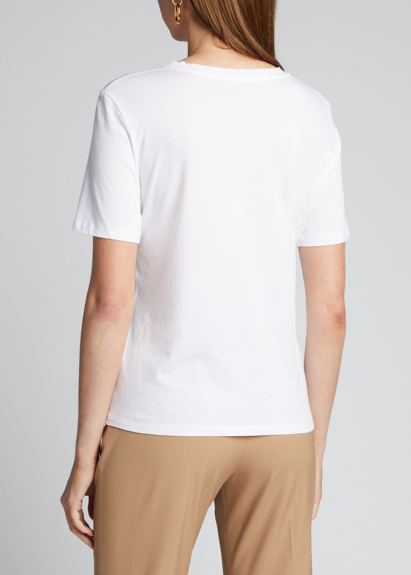 Image 2 of 5: Crewneck Short-Sleeve Cotton Silk Touch T-Shirt