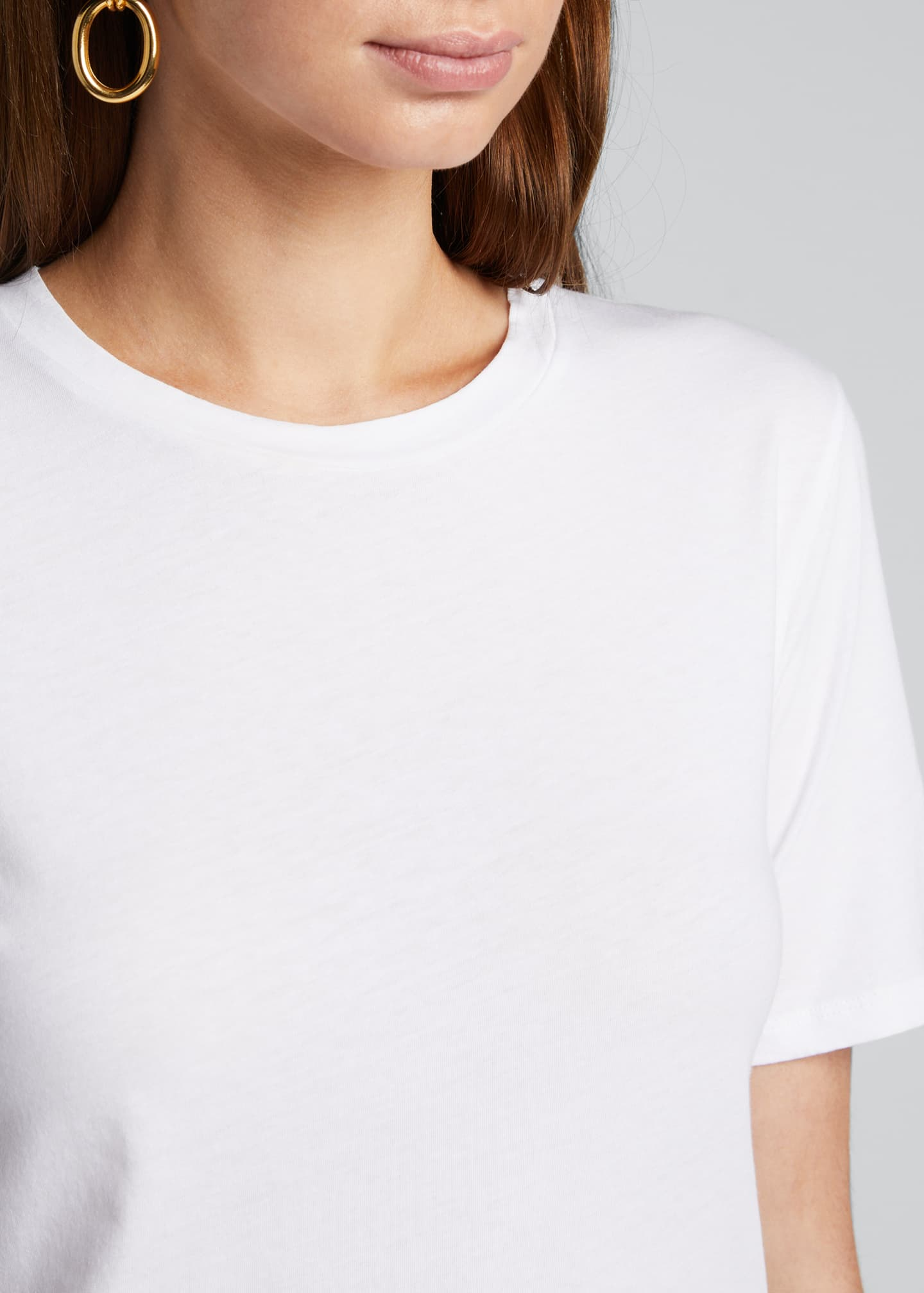 Image 4 of 5: Crewneck Short-Sleeve Cotton Silk Touch T-Shirt