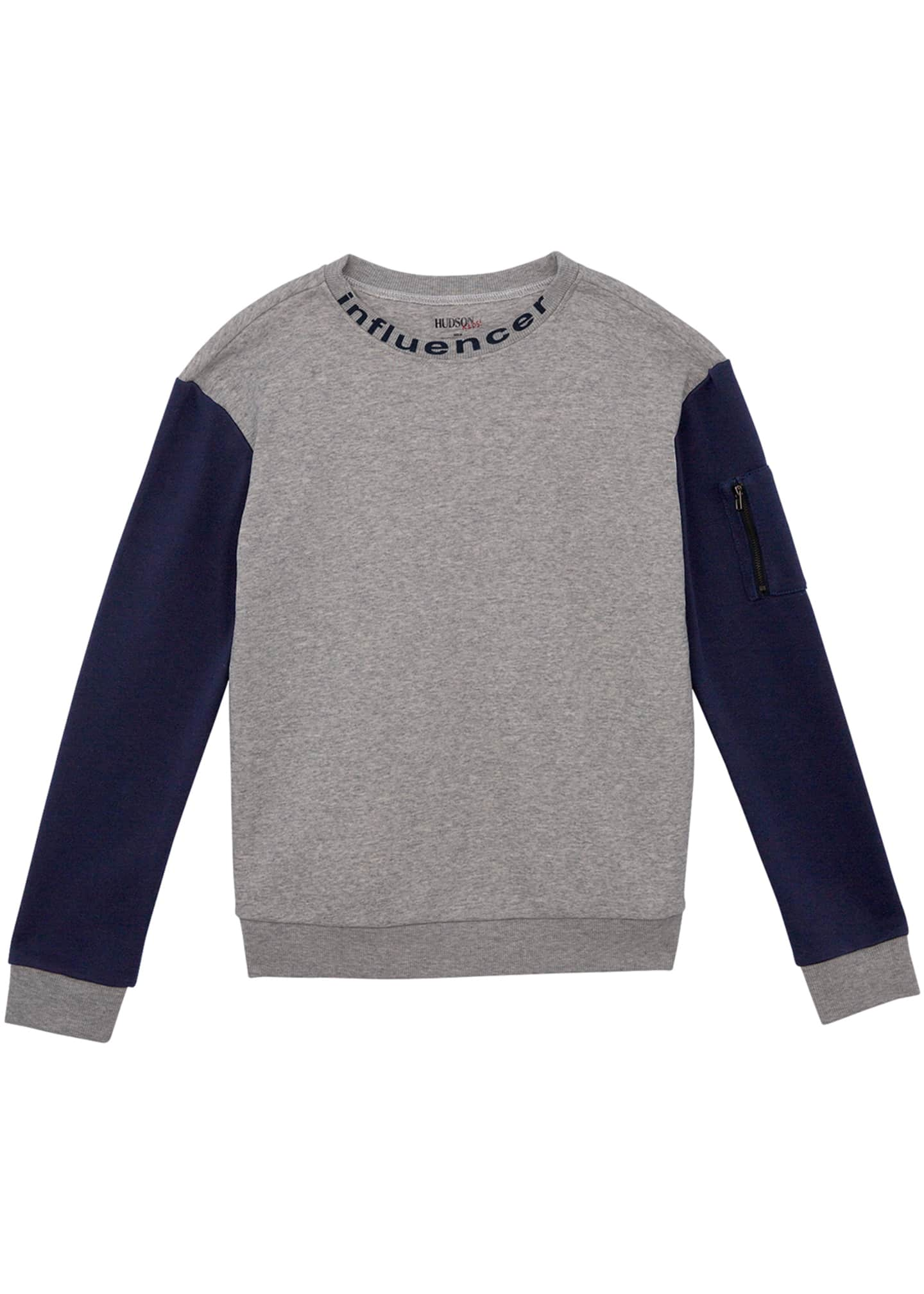 Hudson Boys' French Terry Crewneck Sweatshirt, Size S-XL