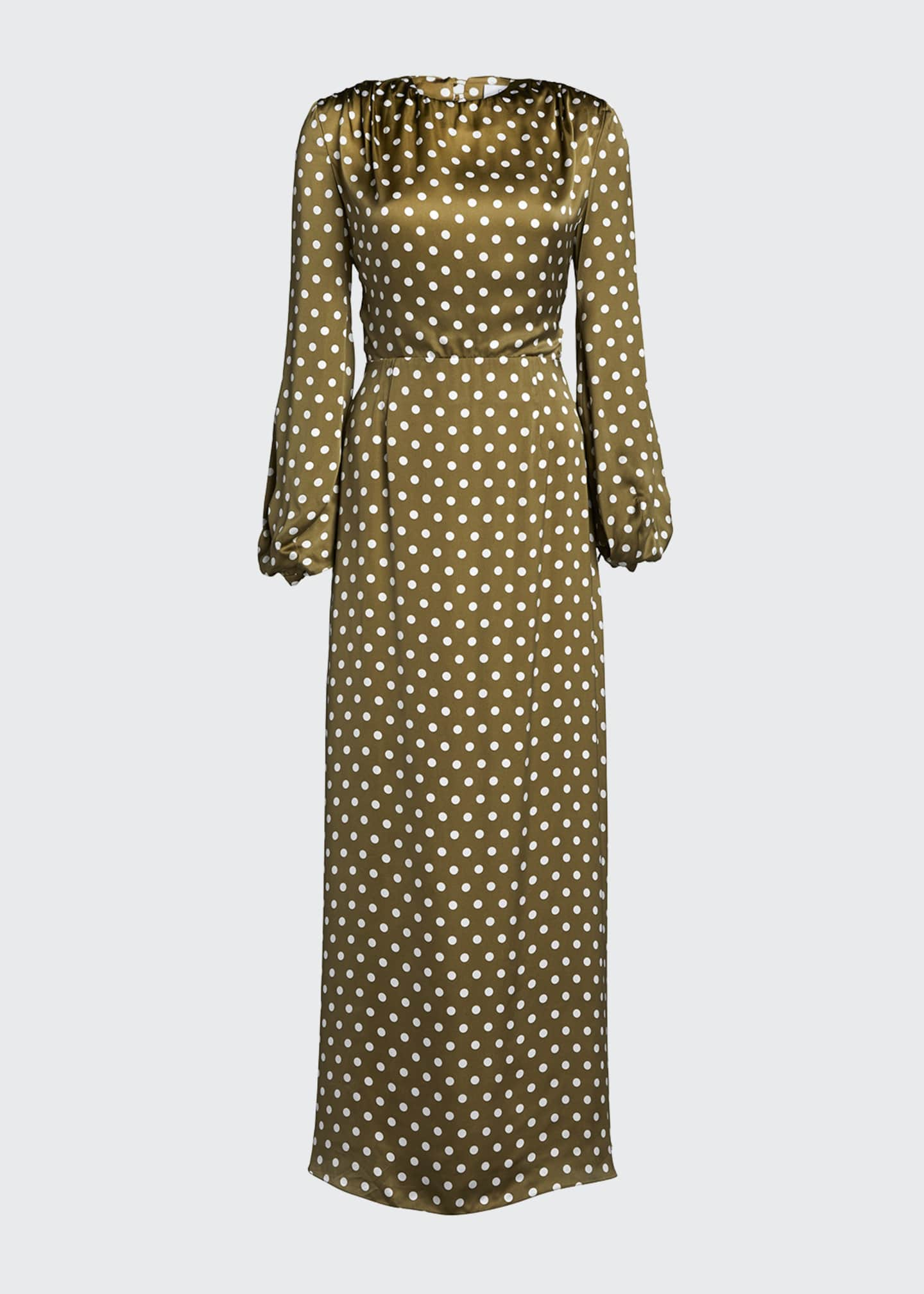 Image 5 of 5: Polka-Dotted Open Back Dress