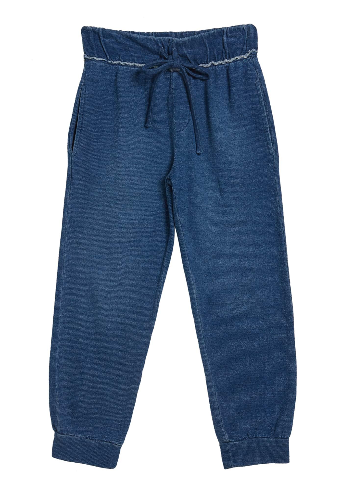 Bella Dahl Girl's Fray Waist Jogger Pants, Size