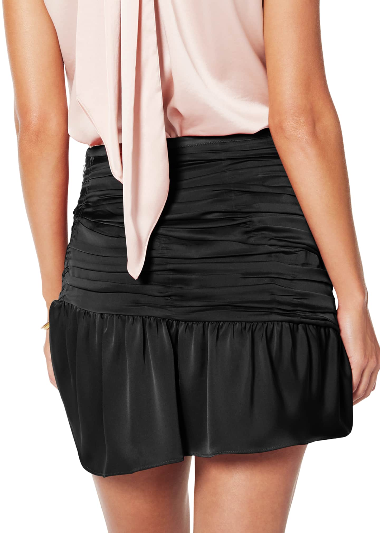 Image 3 of 3: Mini Ruched Short Skirt