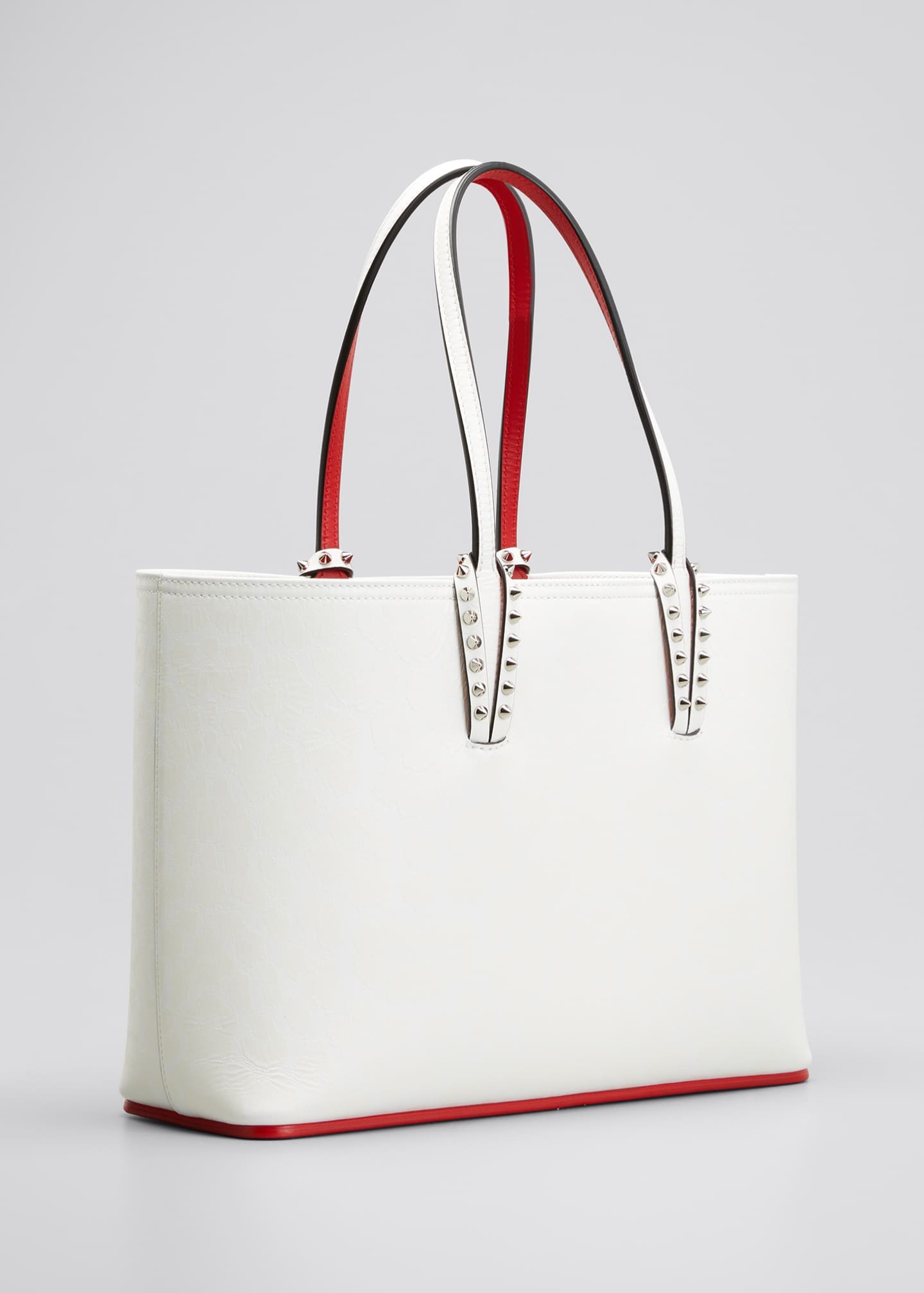 Image 3 of 5: Cabata Small Calf Leopard 50s Red Sole Tote Bag