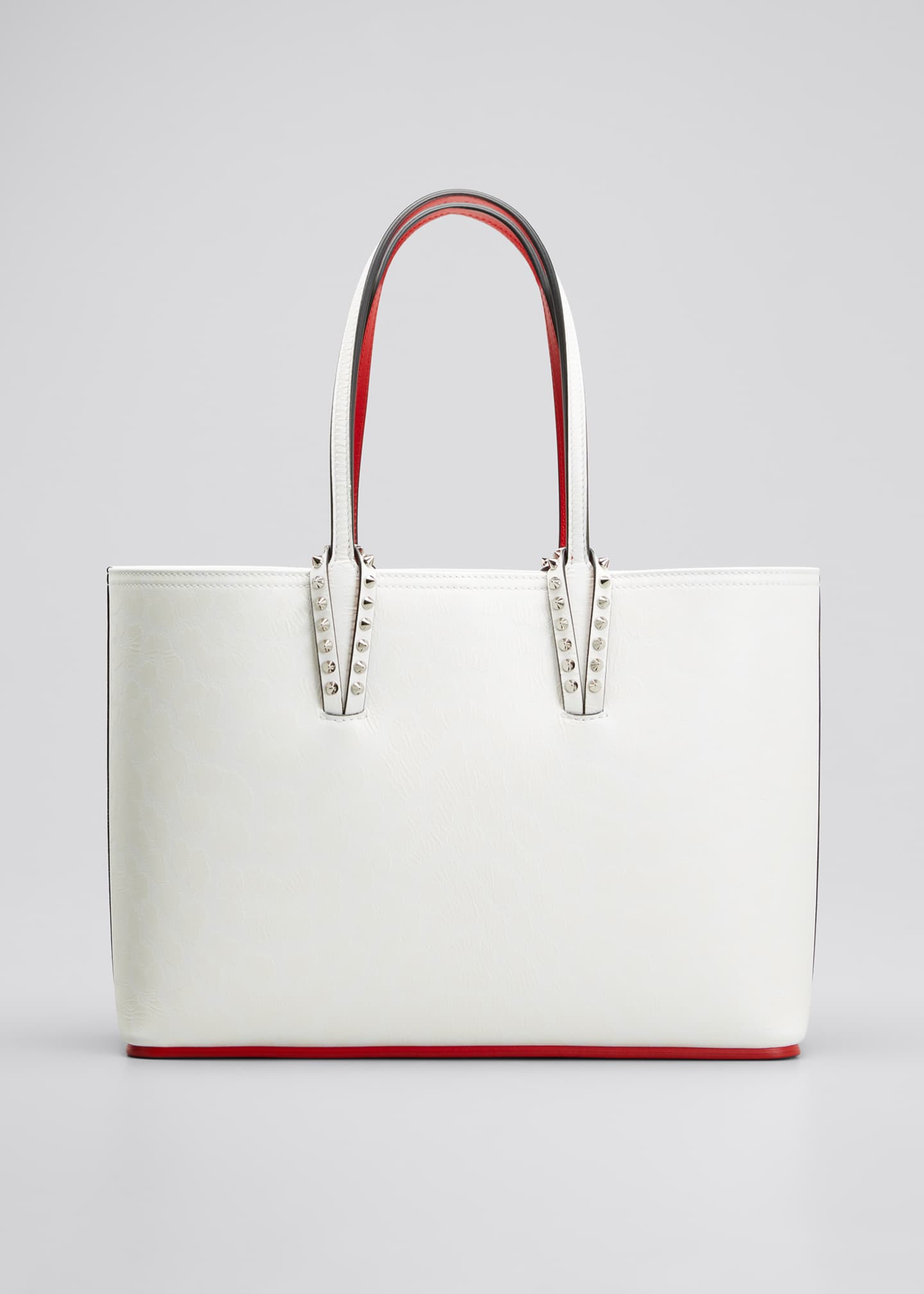 Image 1 of 5: Cabata Small Calf Leopard 50s Red Sole Tote Bag