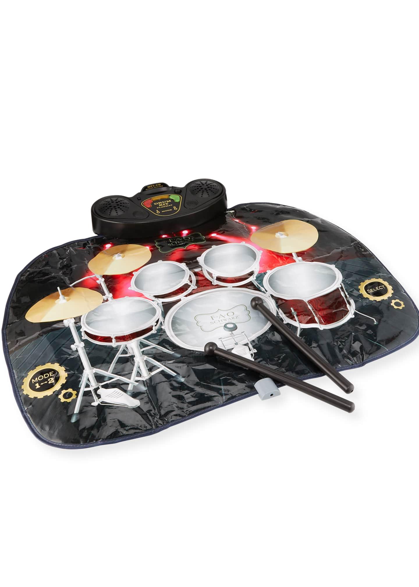 FAO Schwarz Tabletop Toy Drum Set Mat