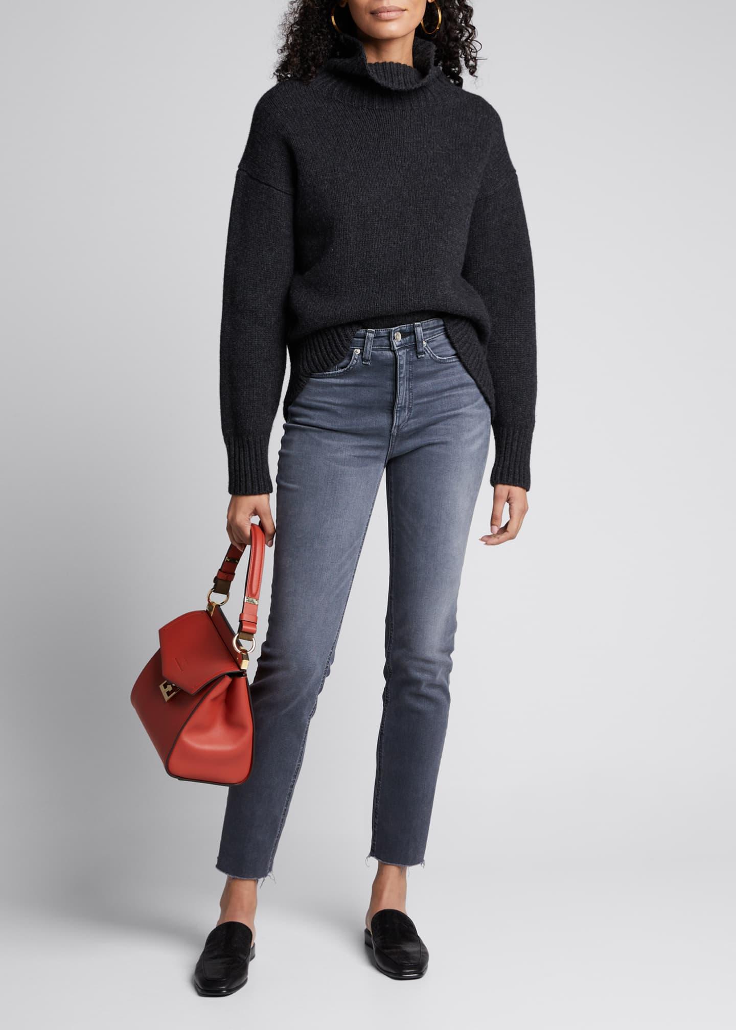 Rag & Bone Nina High-Rise Cigarette Cropped Jeans