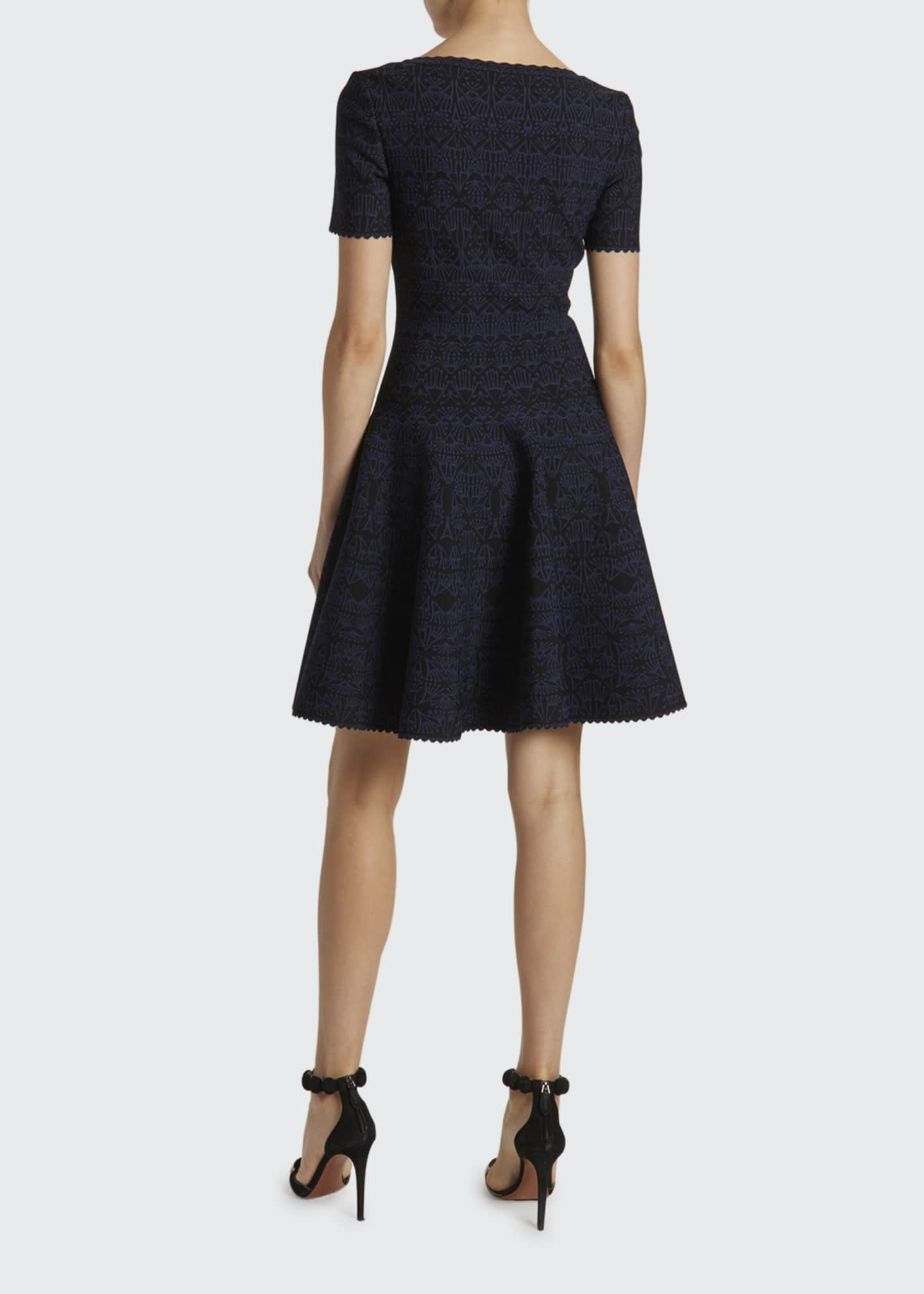 Image 2 of 2: Campanelle Scalloped Jersey Scoop-Neck Dress