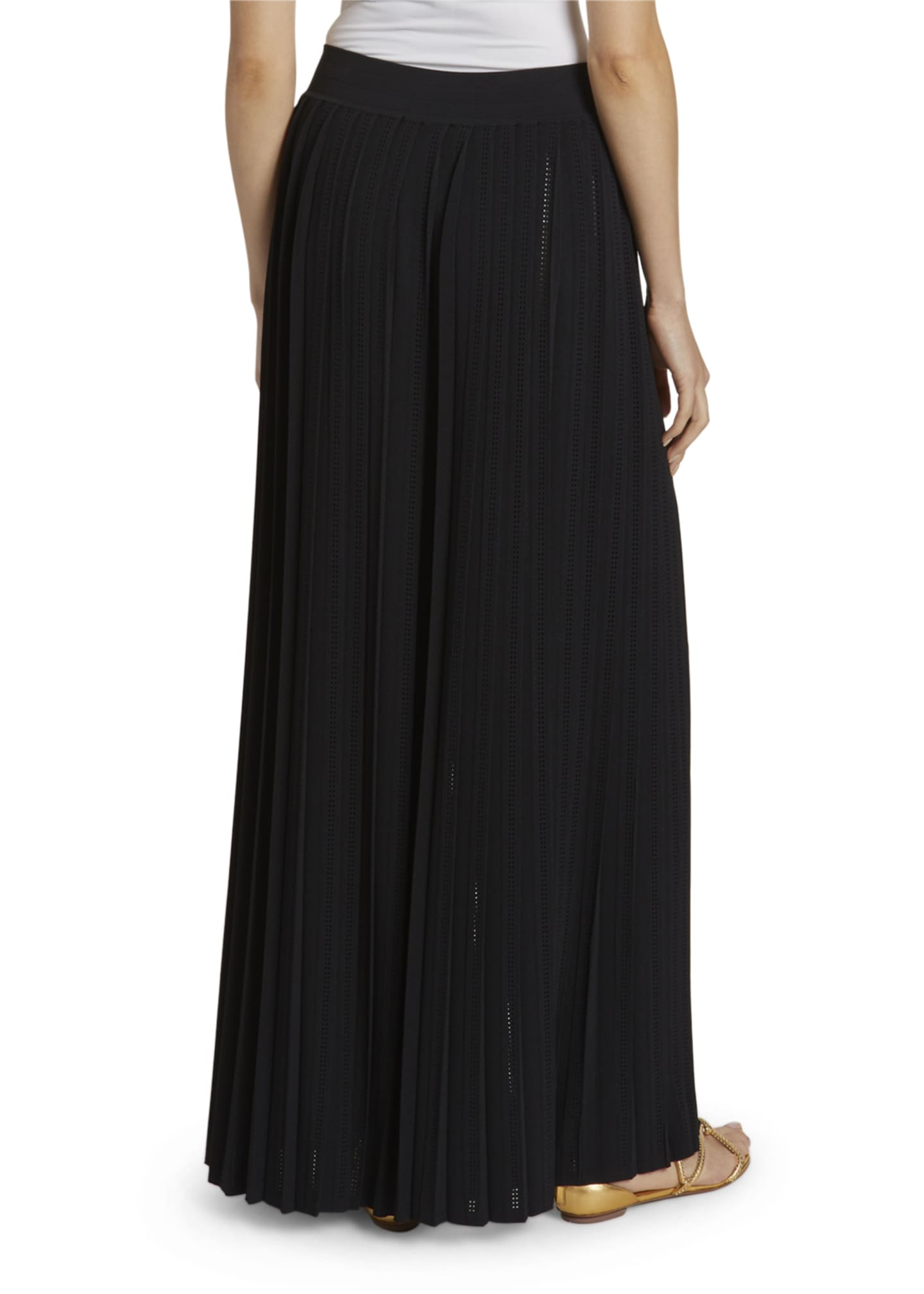 Image 2 of 3: Plisse Wide-Leg Trousers