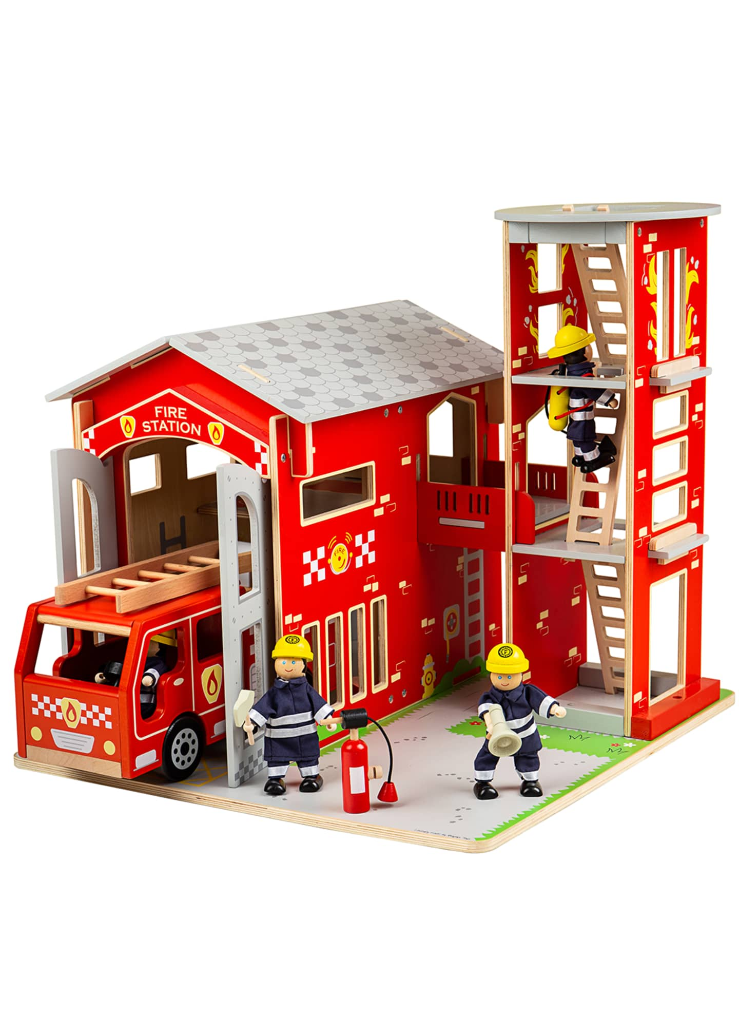 Bigjigs Toys City Fire Station Bundle Playset