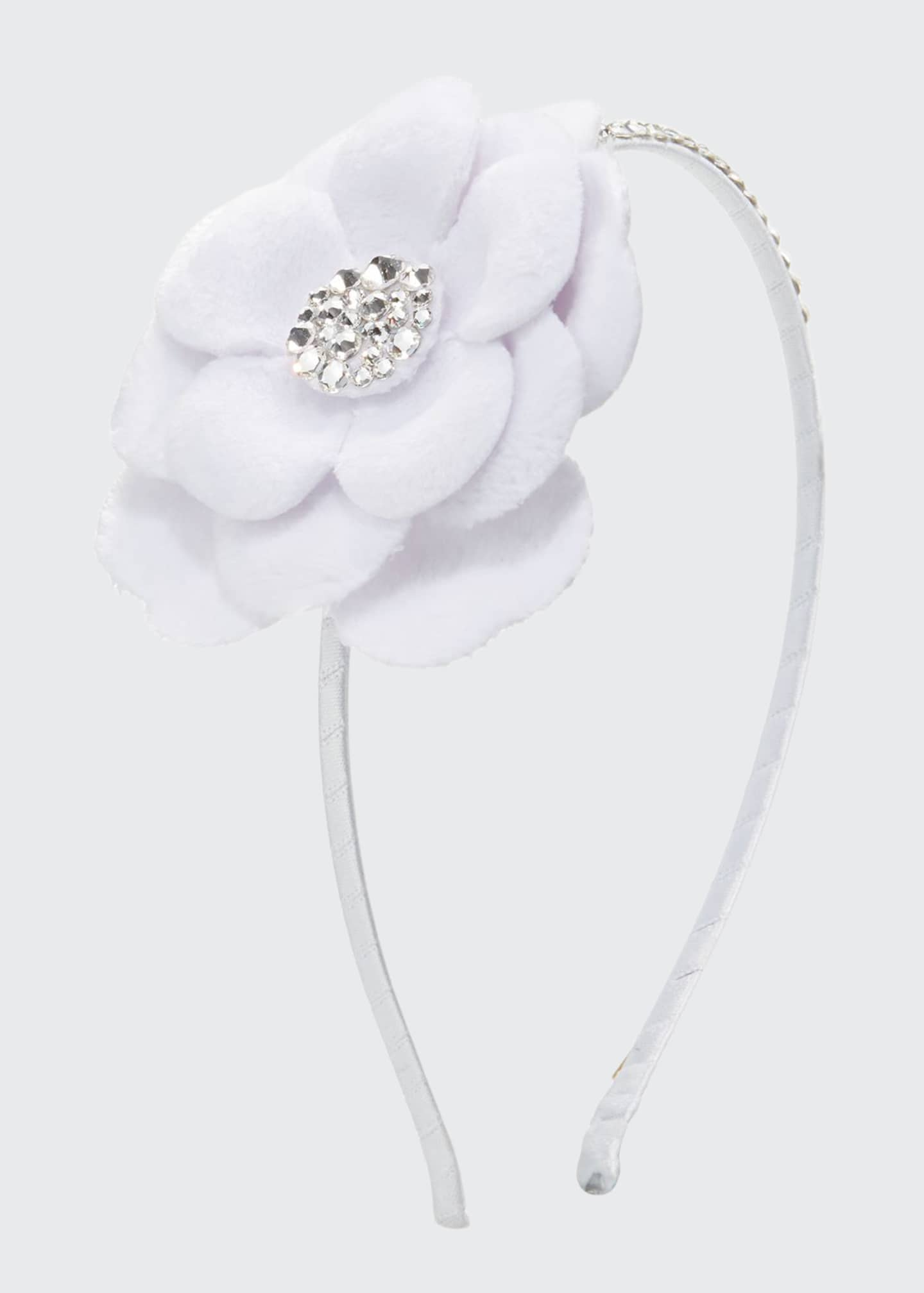 Bari Lynn Girl's Crystal Flower Headband