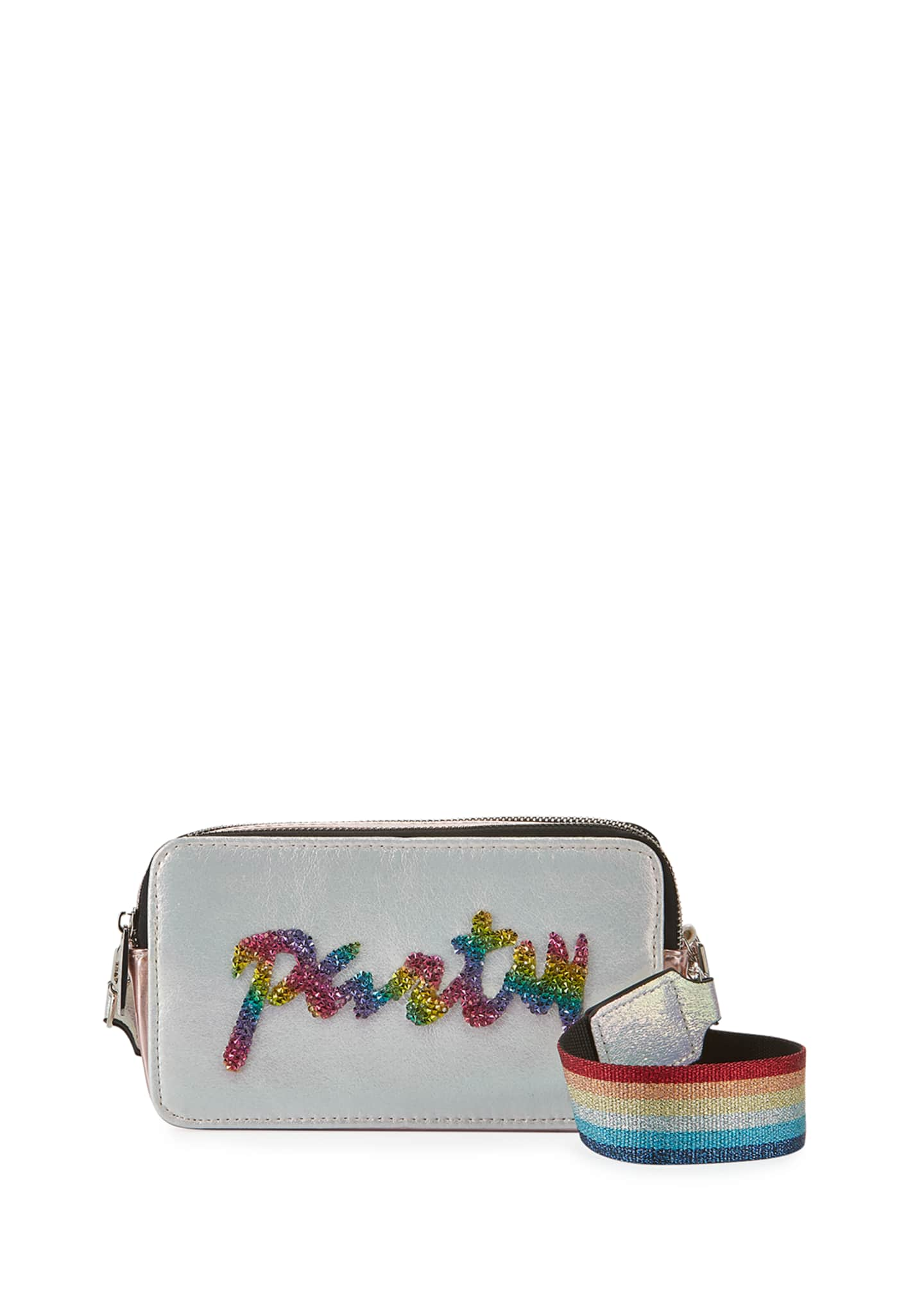 Image 1 of 3: Girl's Party Camera Bag w/ Rainbow Strap
