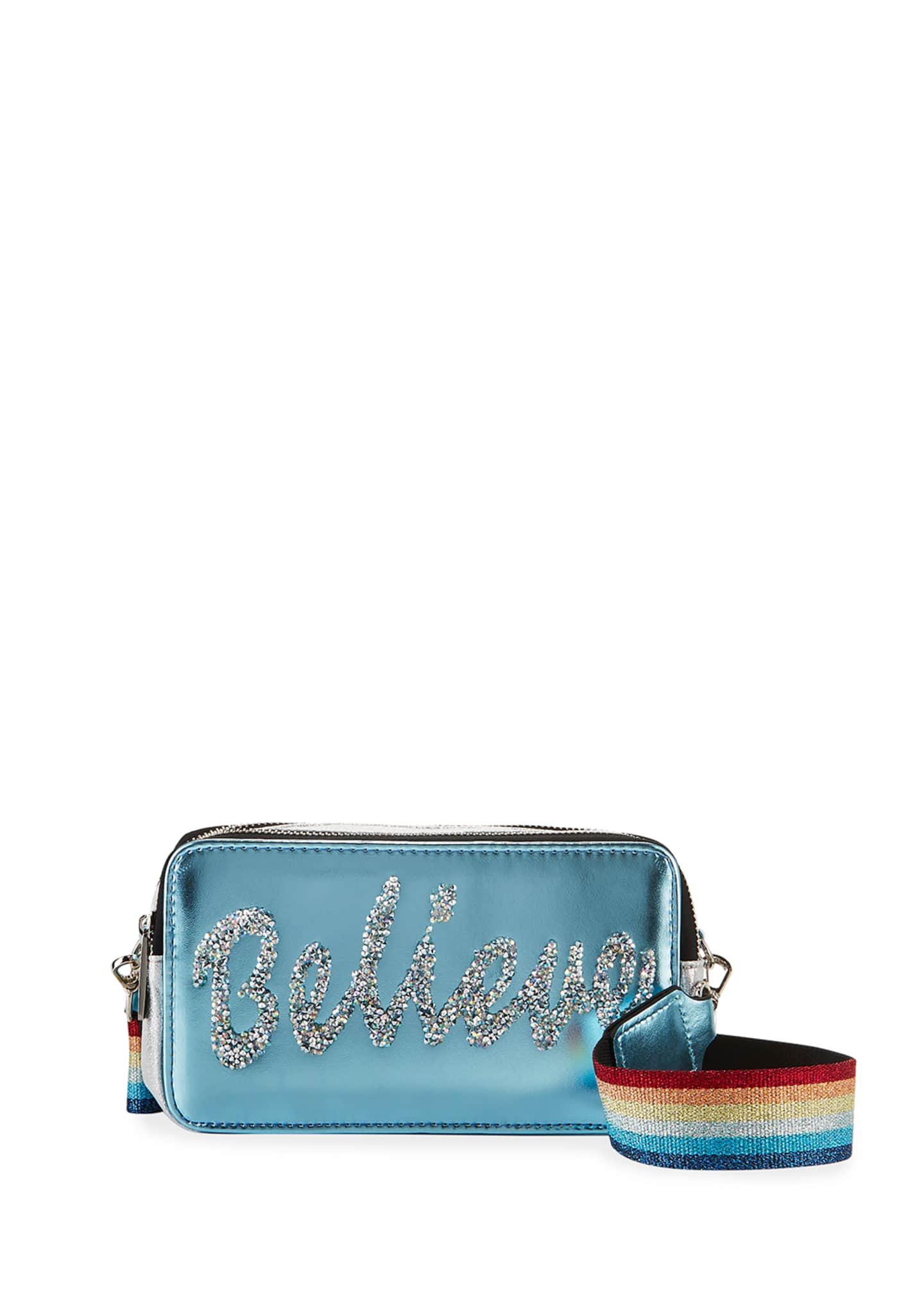 Image 1 of 3: Girl's Believe Camera Bag w/ Rainbow Strap