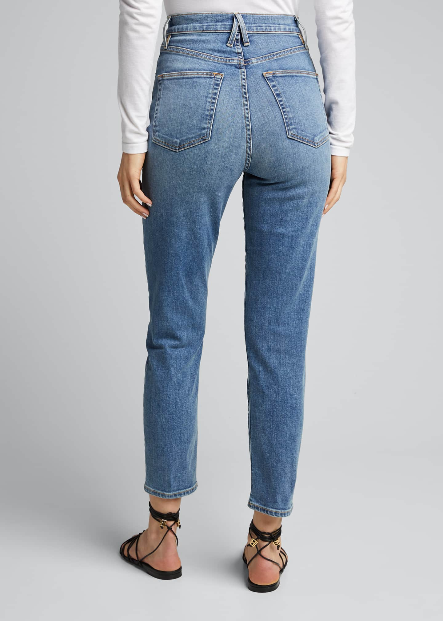 Image 2 of 5: Beatnik Ankle High Rise Slim Jeans