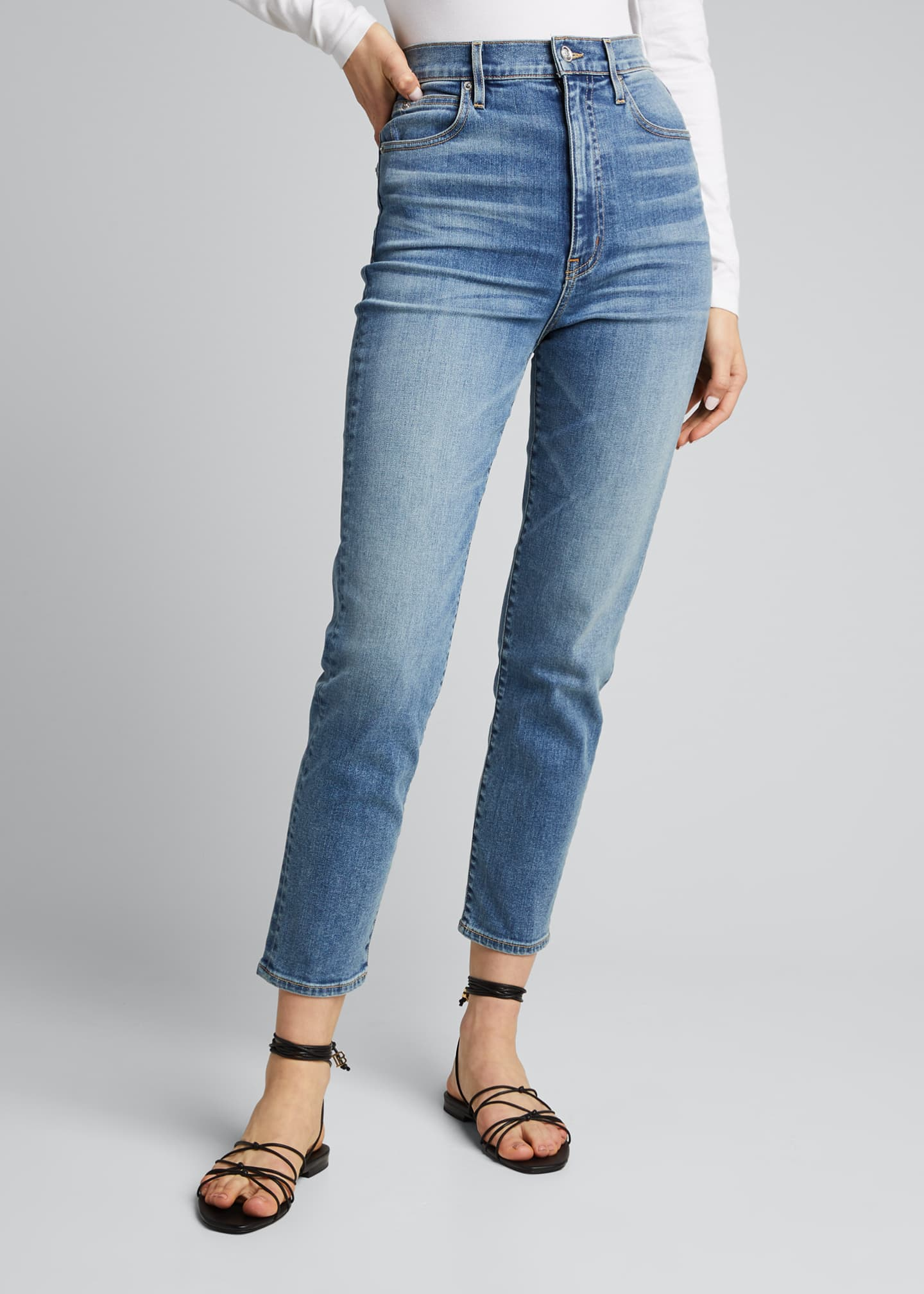 Image 3 of 5: Beatnik Ankle High Rise Slim Jeans