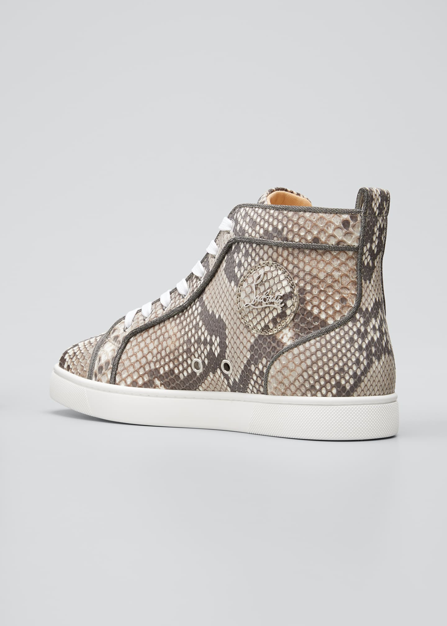 Image 4 of 4: Men's Louis Orlato Python Glow-in-the-Dark Sneakers