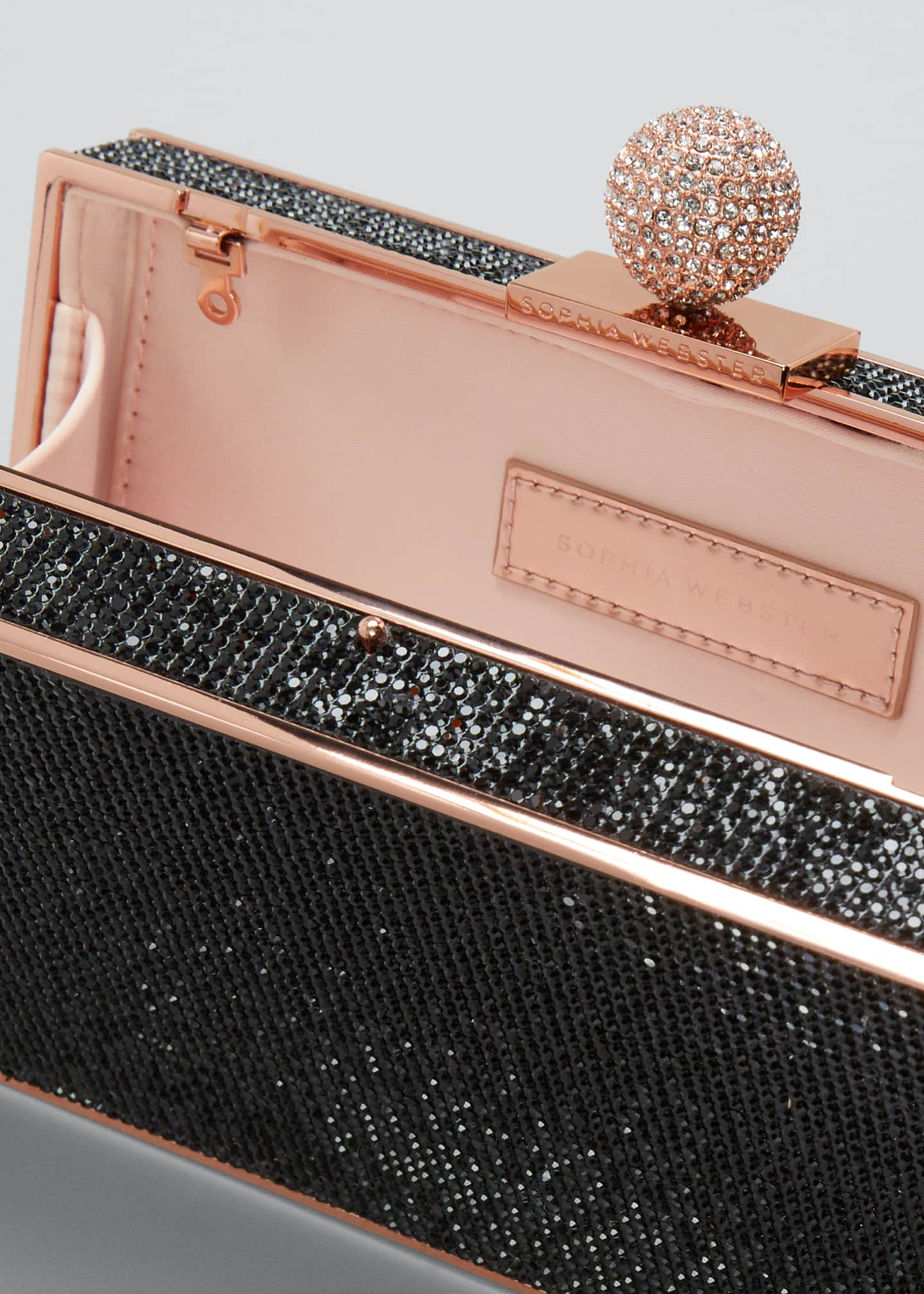 Image 4 of 5: Clara Crystal Box Clutch Bag