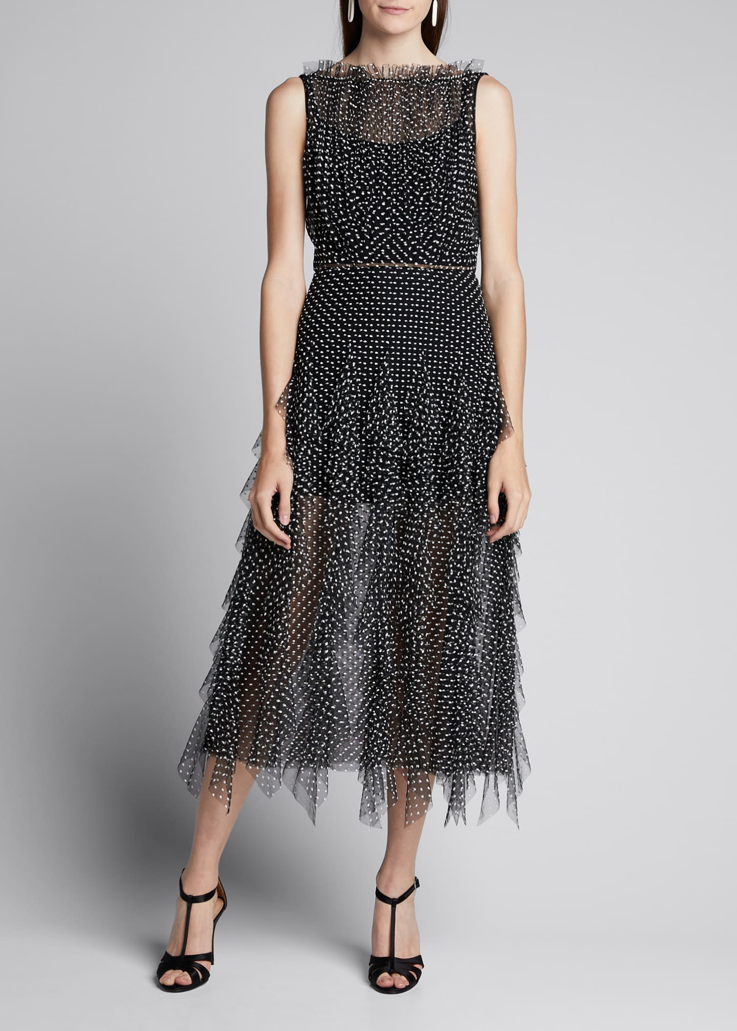 Image 3 of 5: Polka Dot Tulle Dress