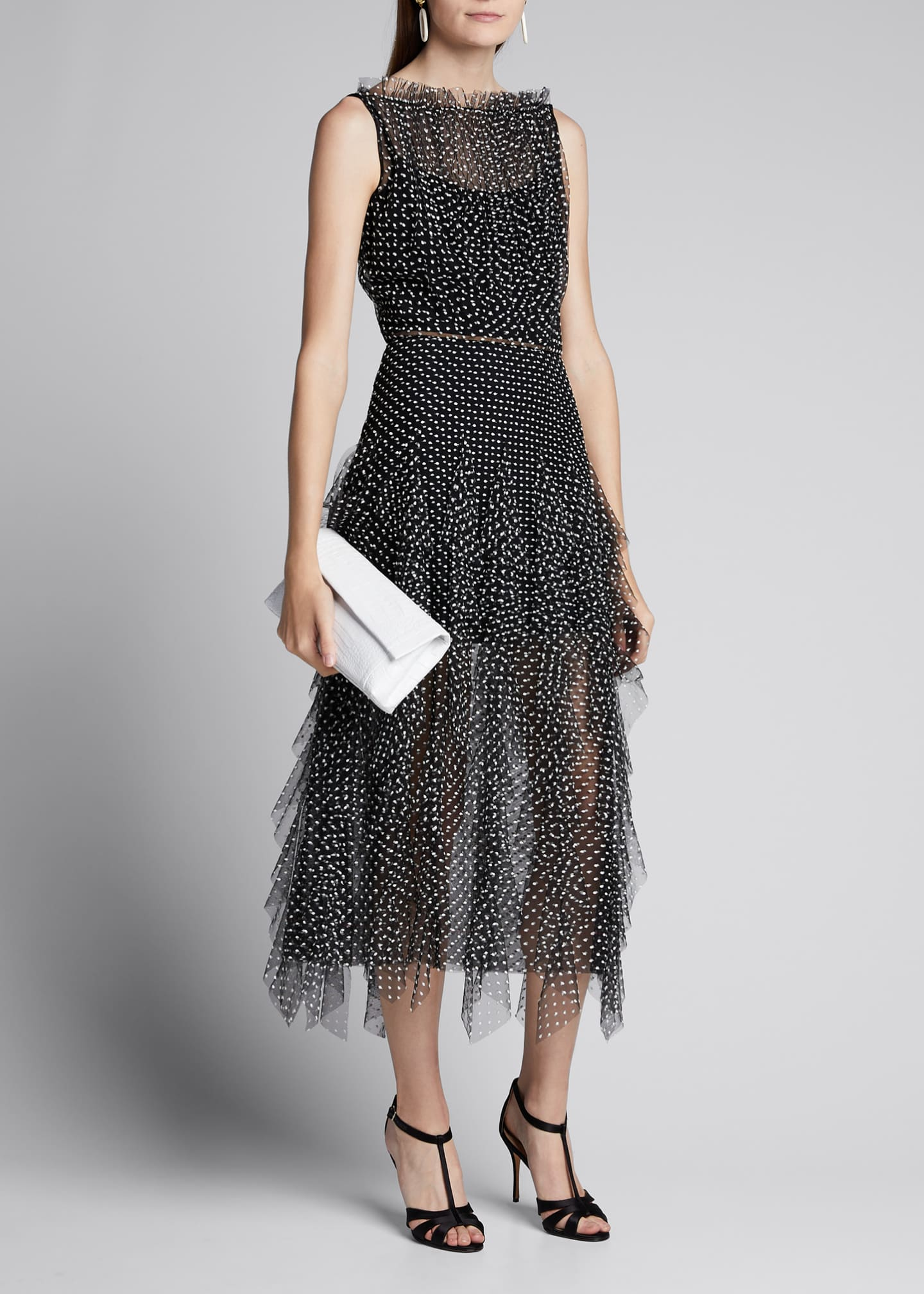 Image 1 of 5: Polka Dot Tulle Dress