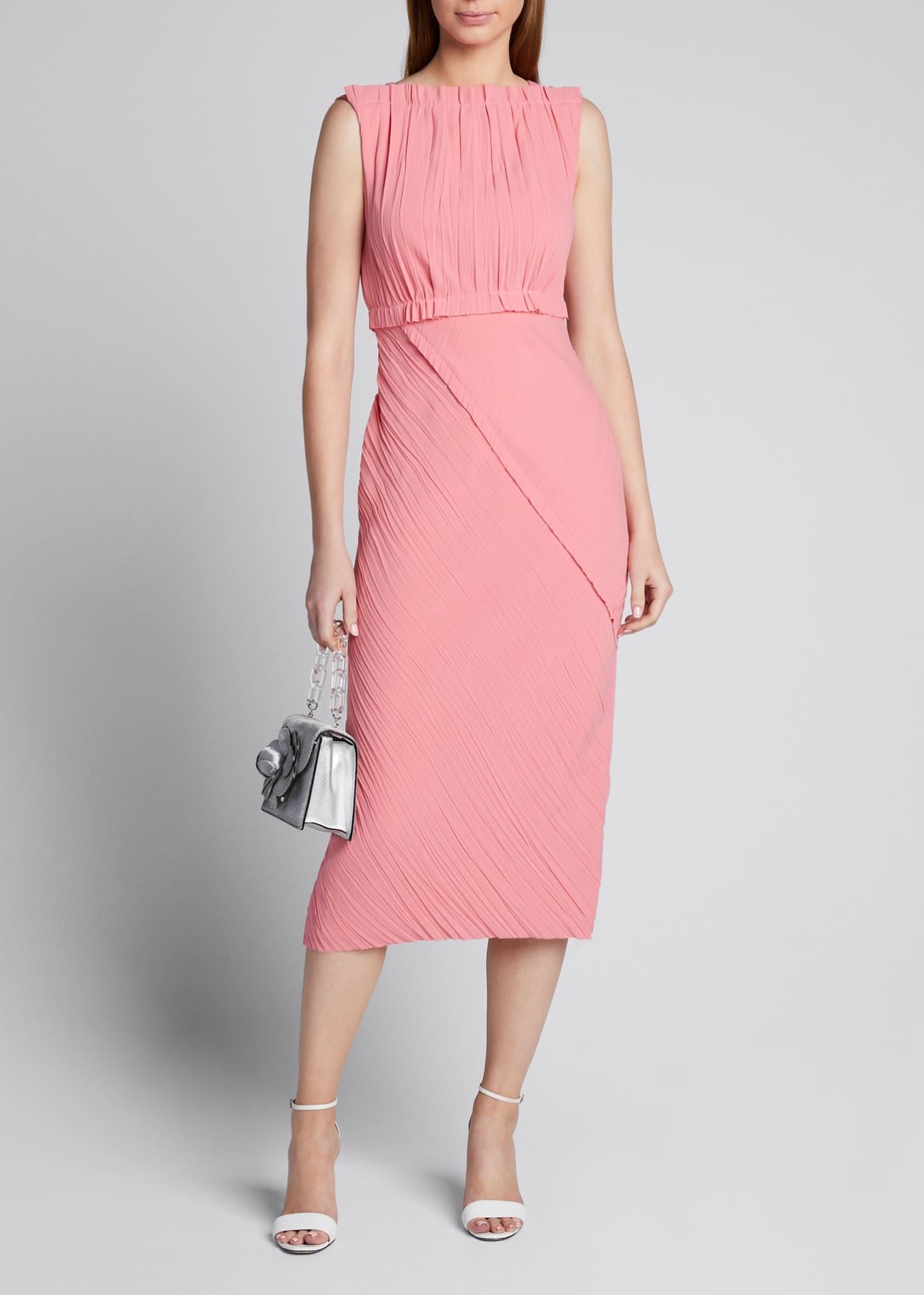 Jason Wu Collection Crinkled Satin-Back Crepe Asymmetric Dress
