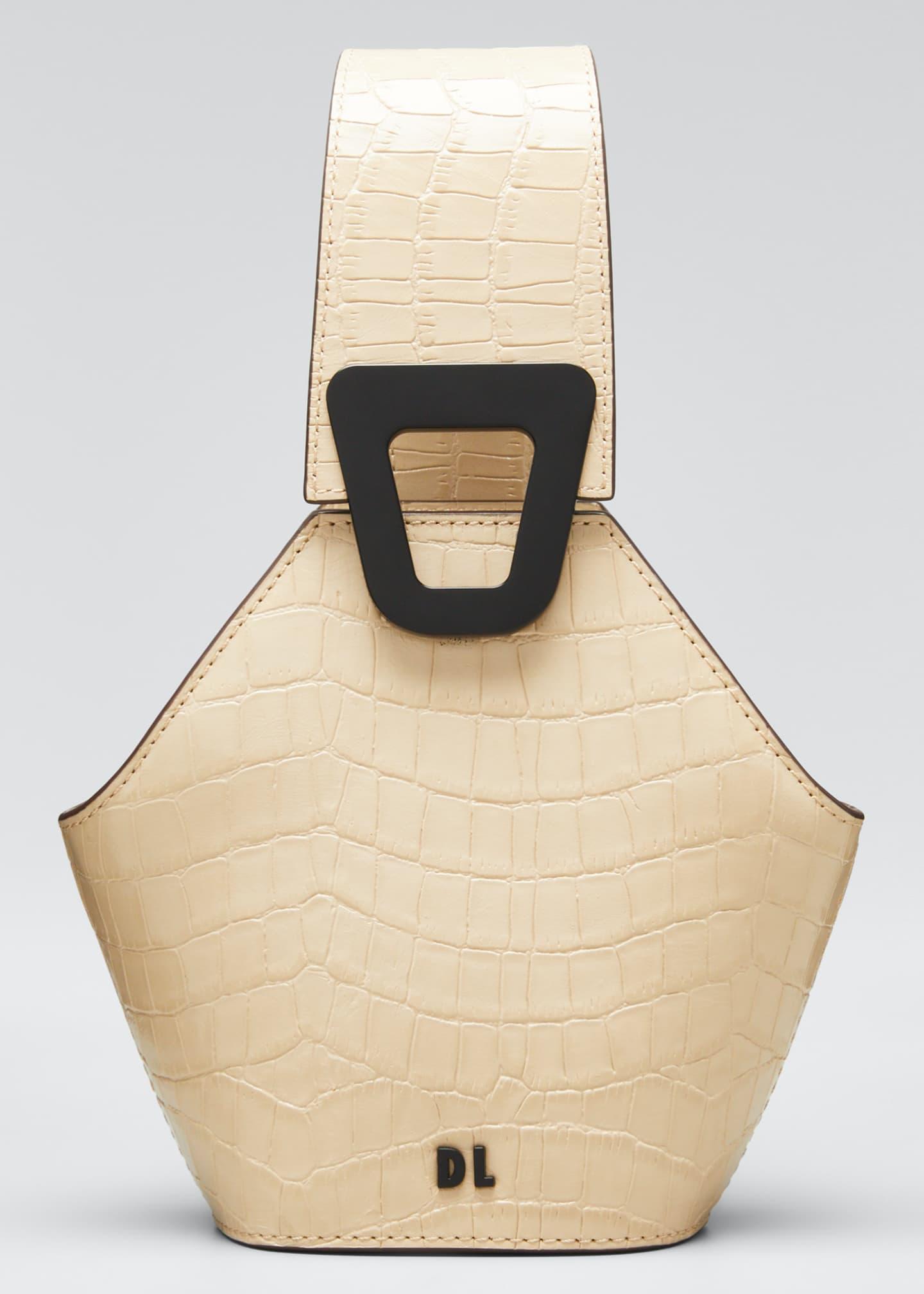 Danse Lente Johnny Mock-Croc Leather Hexagon Mini Shoulder