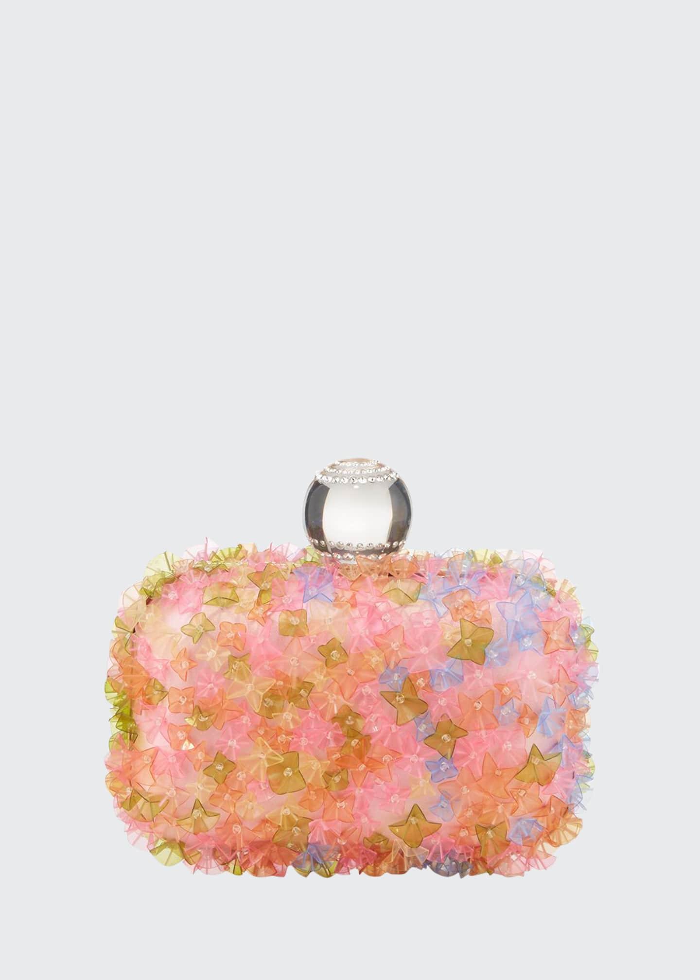 Jimmy Choo Mini Transparent Flower Clutch Bag