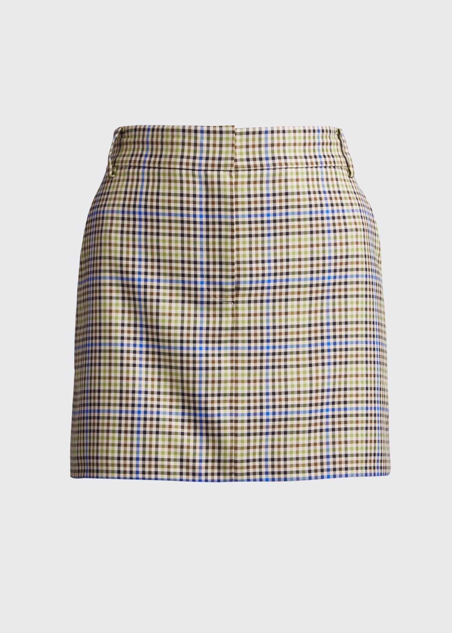 Image 5 of 5: Recycled Menswear Check Mini Skirt