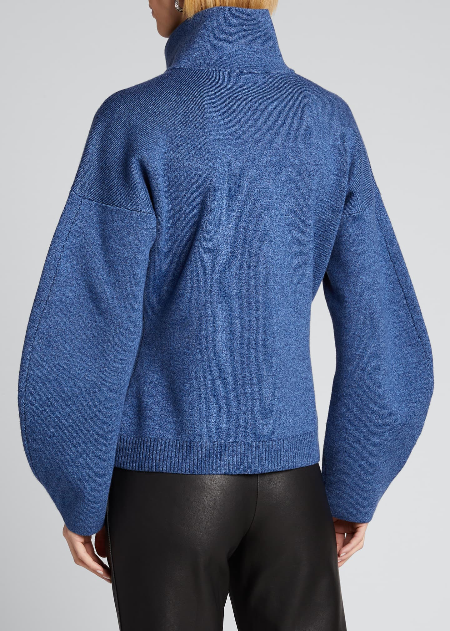 Image 2 of 5: Sculpted Melange Wool Sweater