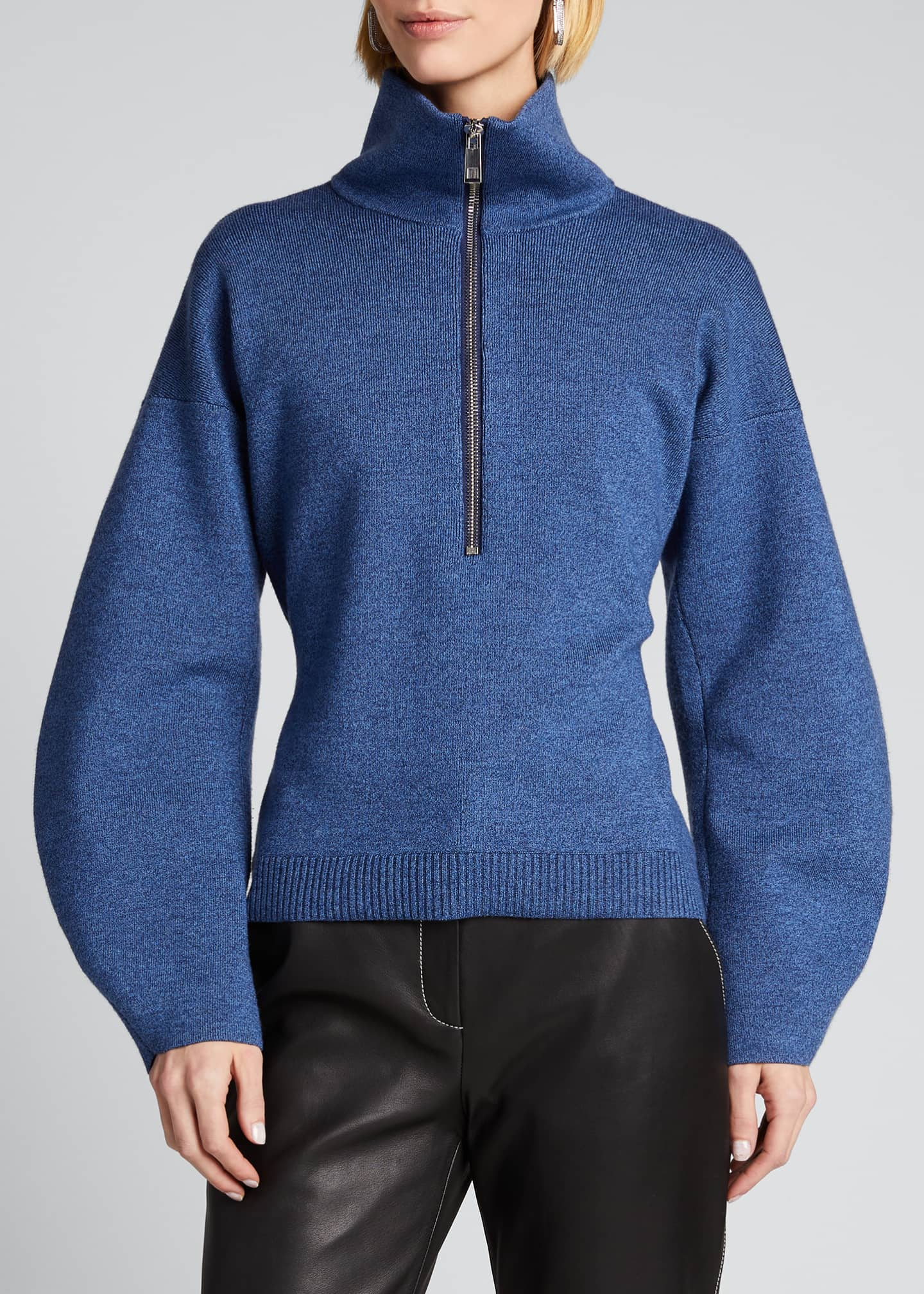 Image 3 of 5: Sculpted Melange Wool Sweater