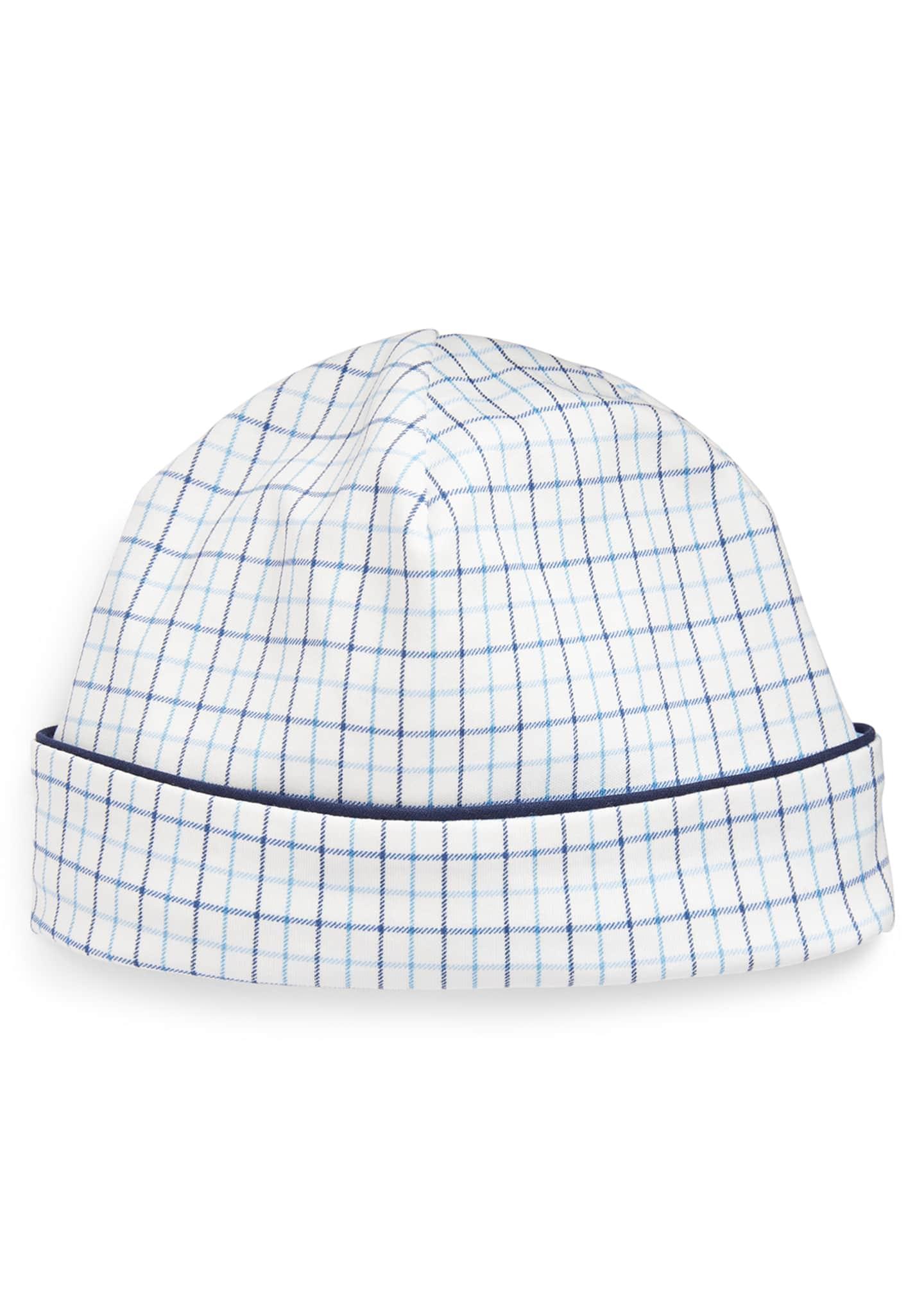 Ralph Lauren Childrenswear Cotton Interlock Plaid Baby Hat
