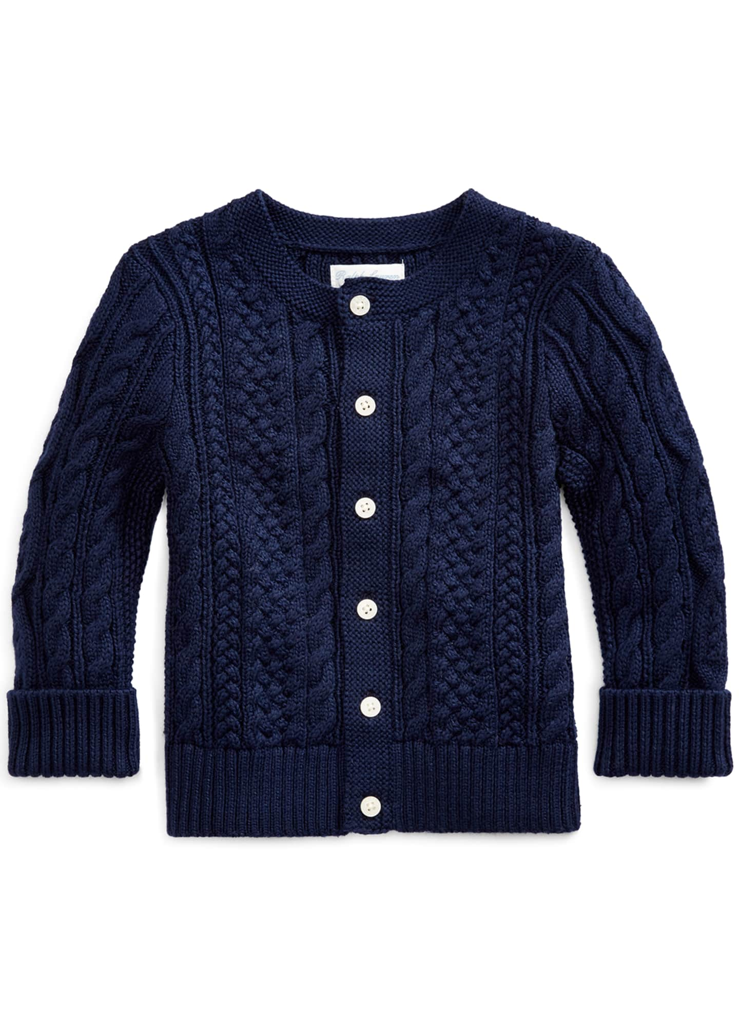 Ralph Lauren Childrenswear Cotton Cable-Knit Cardigan, 6-24