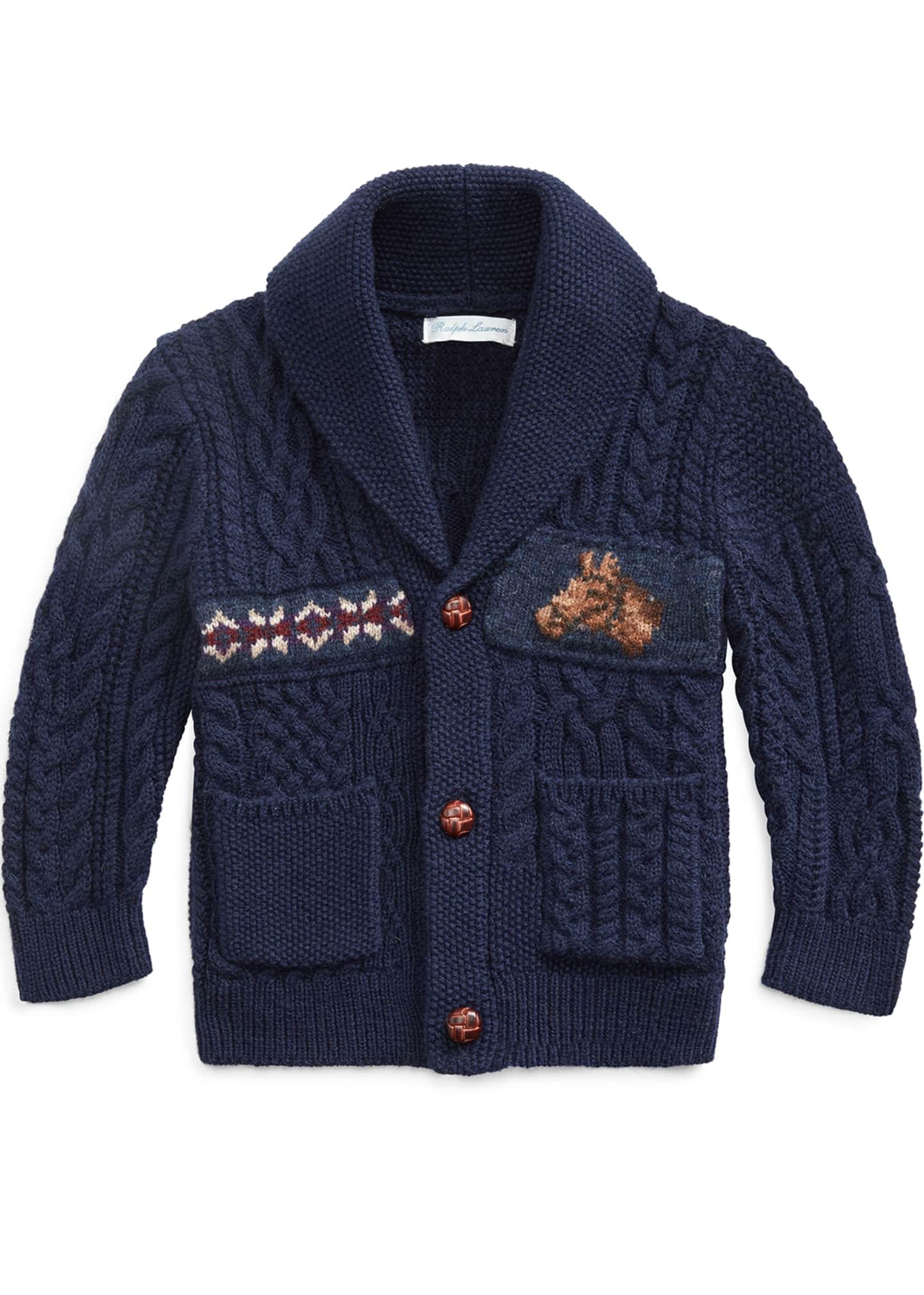 Ralph Lauren Childrenswear Boy's Merino Wool Blend Patchwork