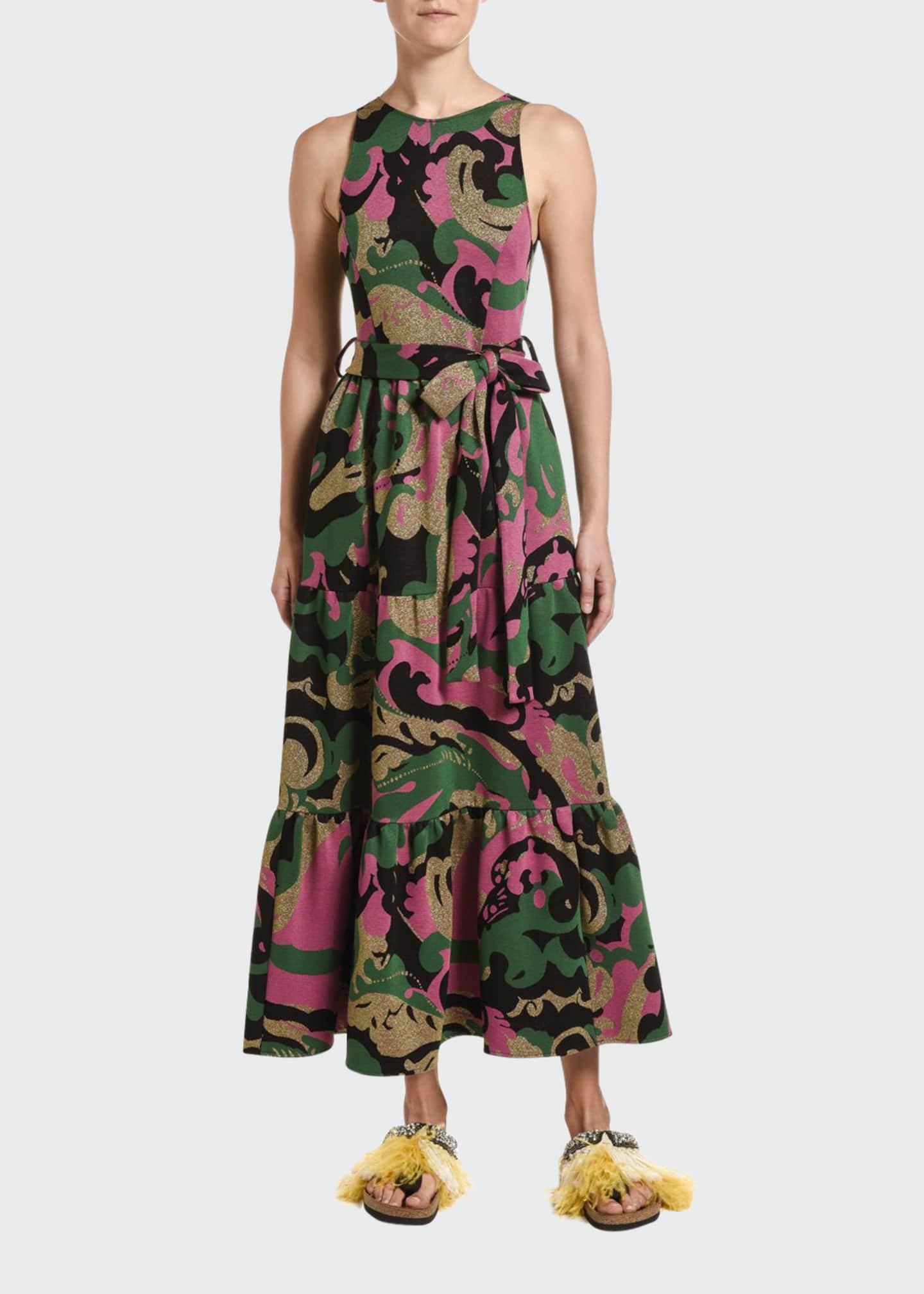 Double J Pellicano Americano Sleeveless Tiered Dress