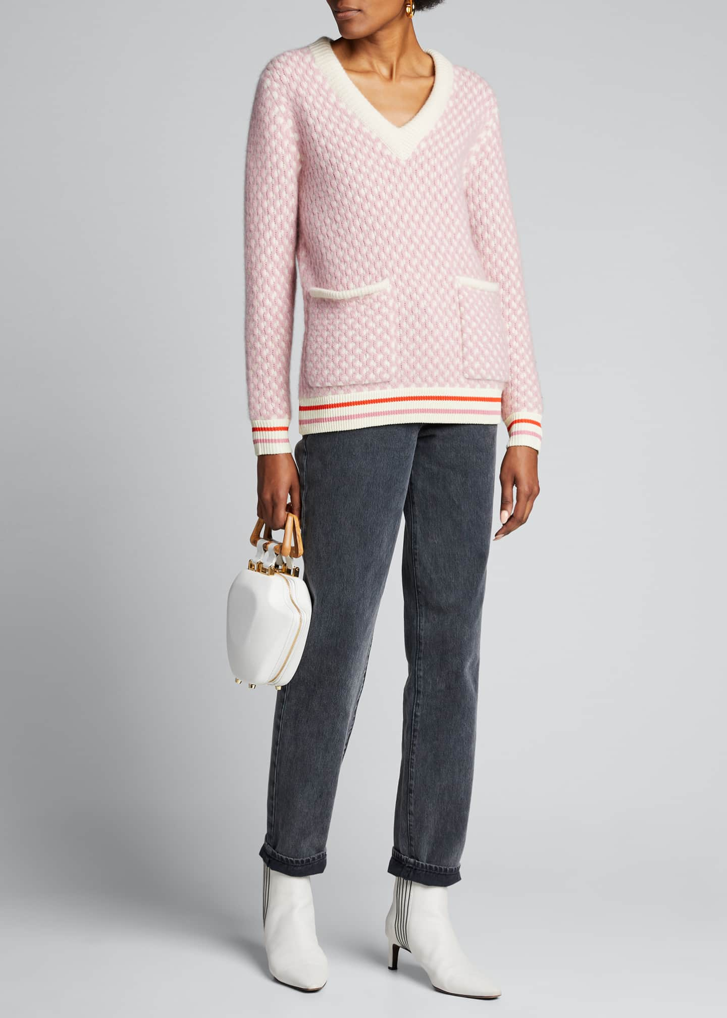 Kule The Shelby Patch-Pocket Pullover Sweater