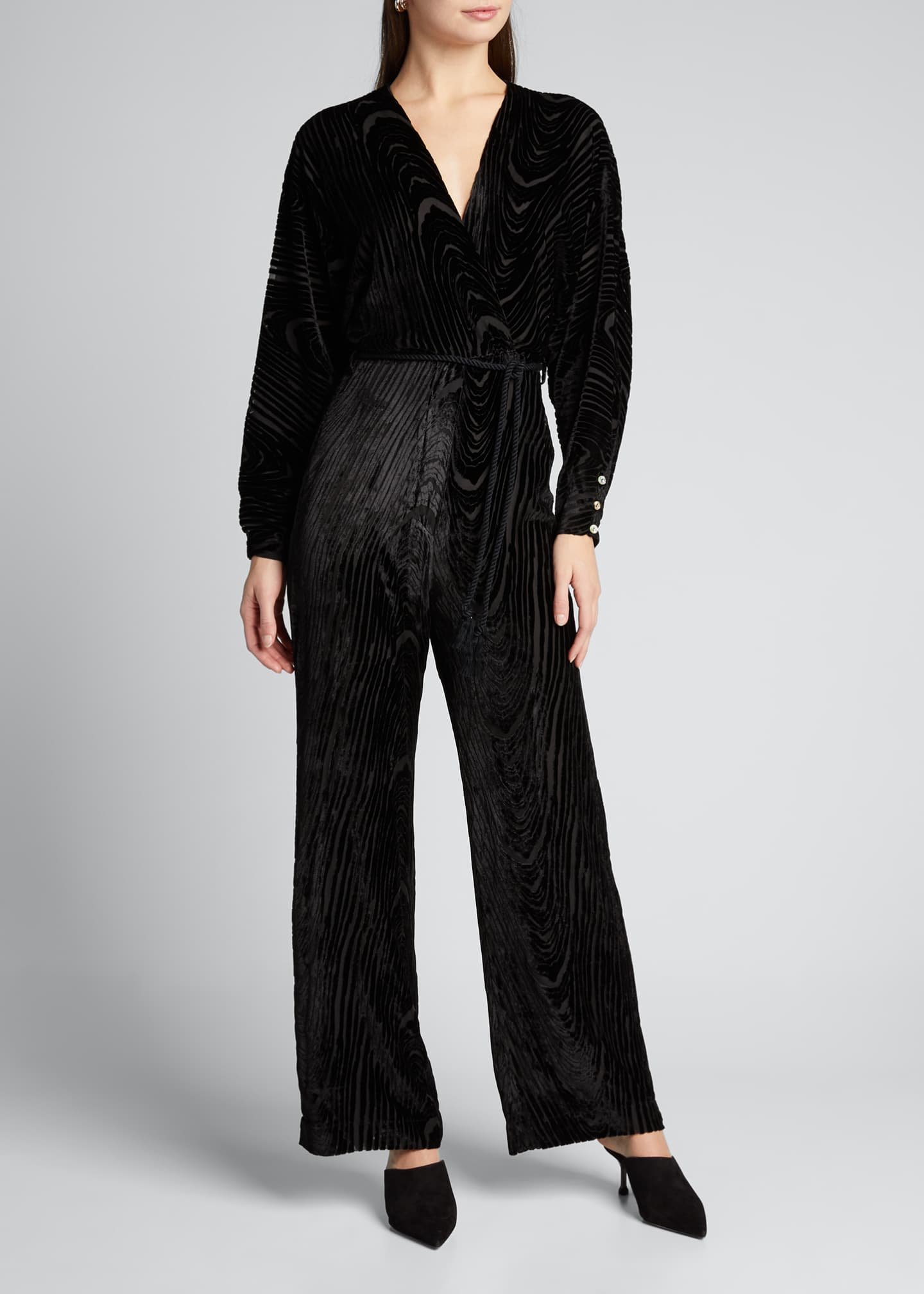 Image 3 of 5: Jax Velvet Burnout Jumpsuit