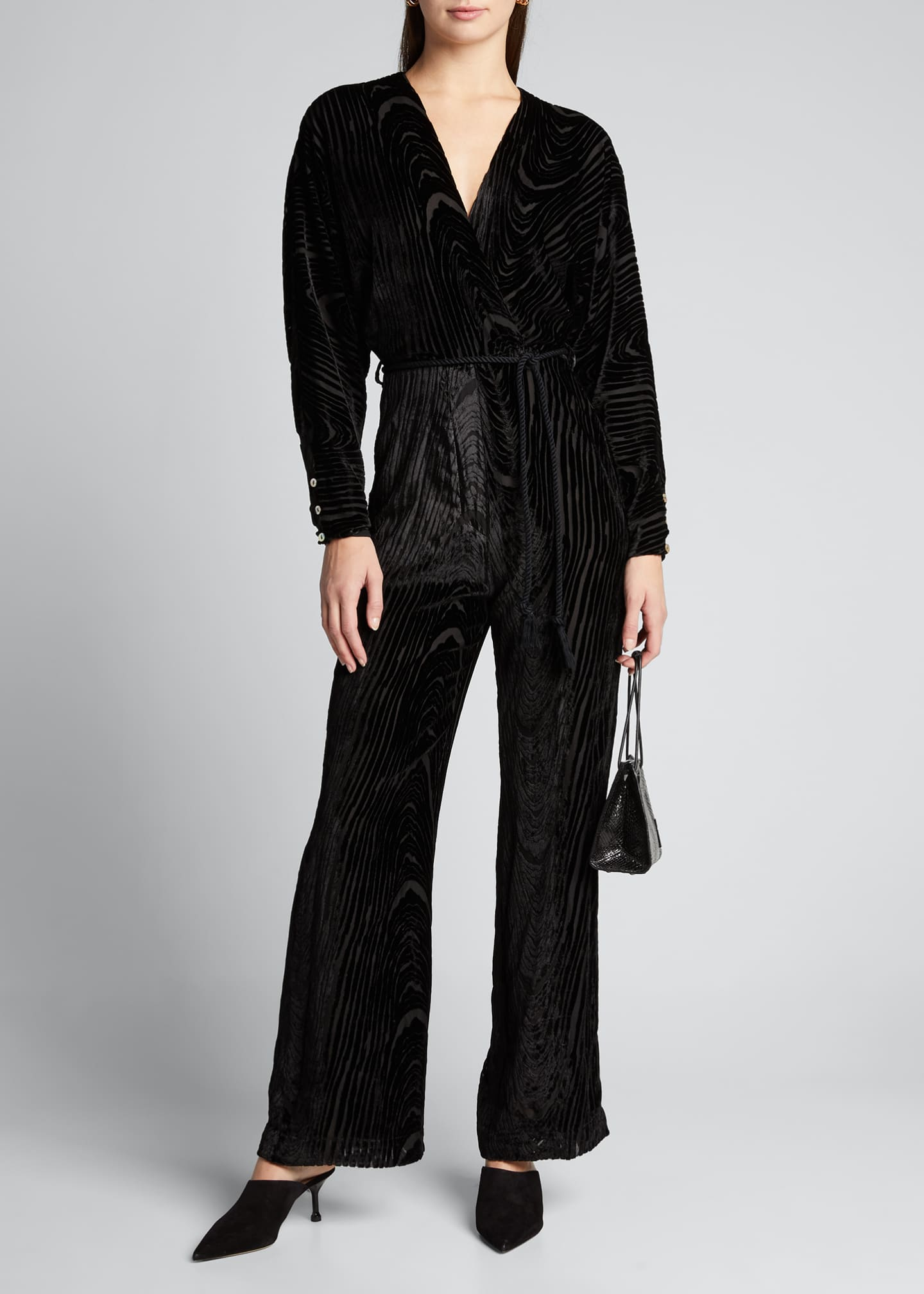 Image 1 of 5: Jax Velvet Burnout Jumpsuit