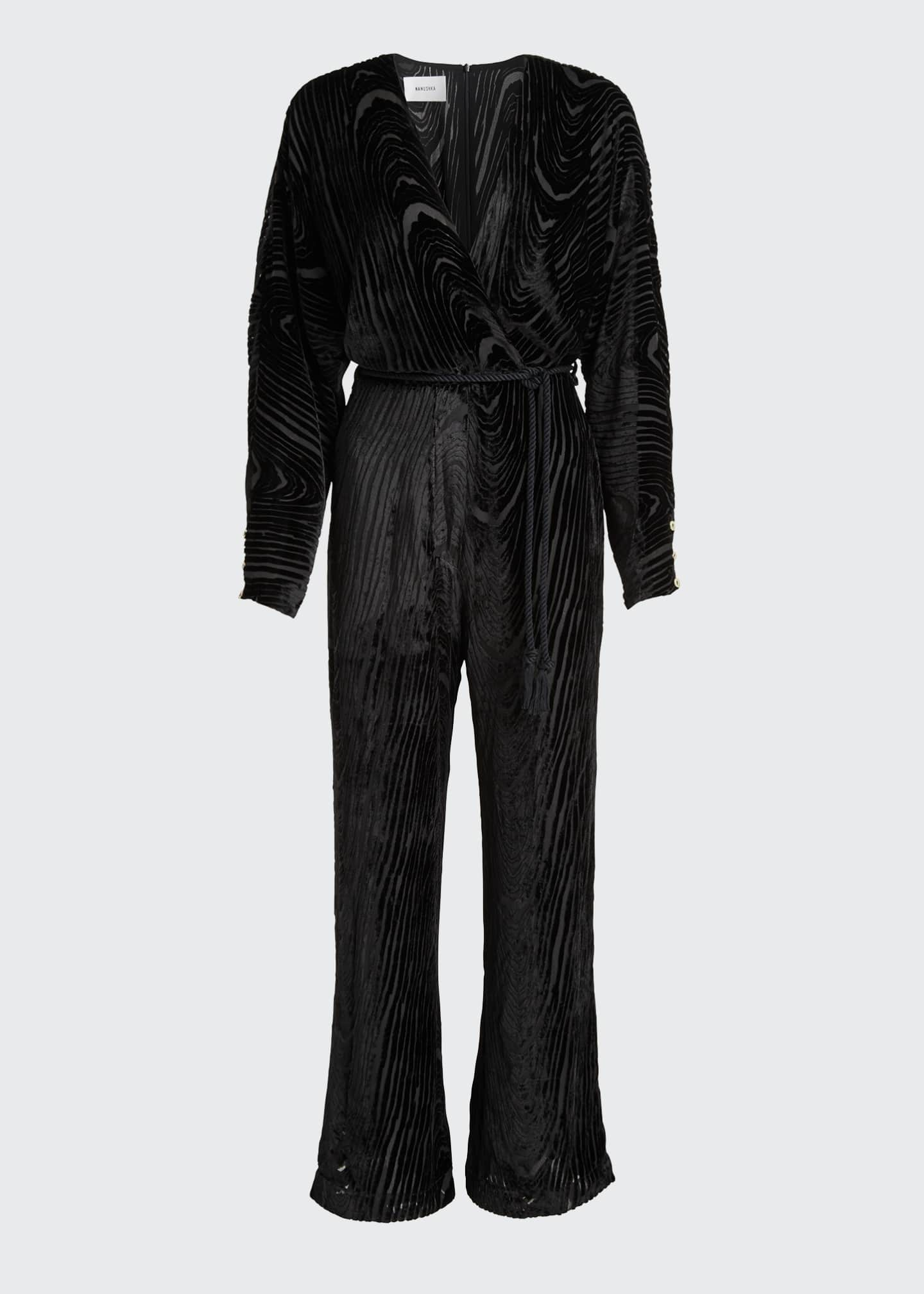 Image 5 of 5: Jax Velvet Burnout Jumpsuit