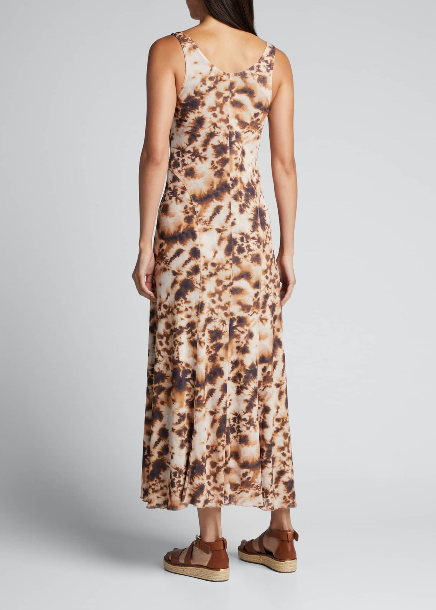 Image 2 of 5: Corrine Sleeveless Tie-Dye Long Dress