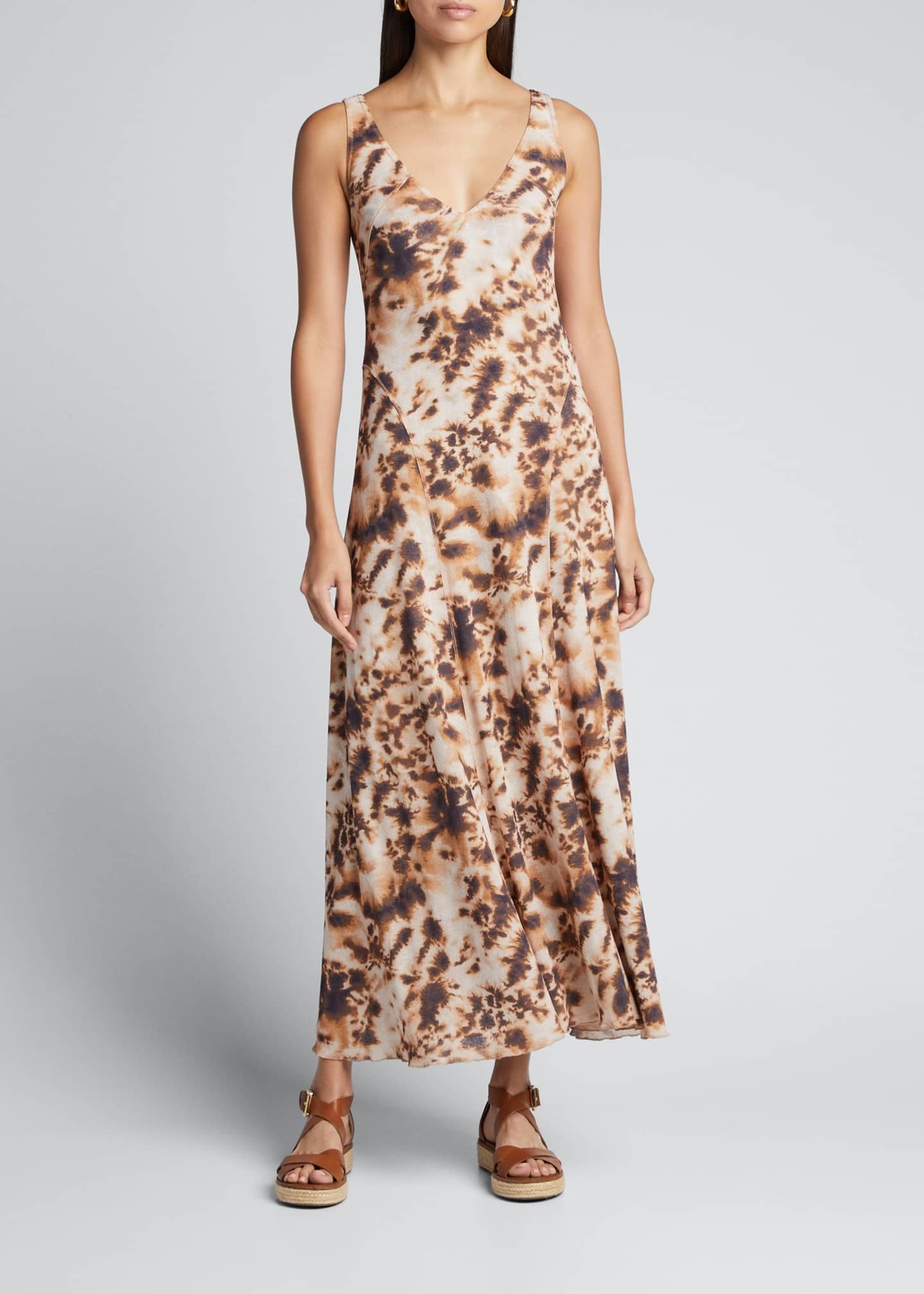 Image 3 of 5: Corrine Sleeveless Tie-Dye Long Dress