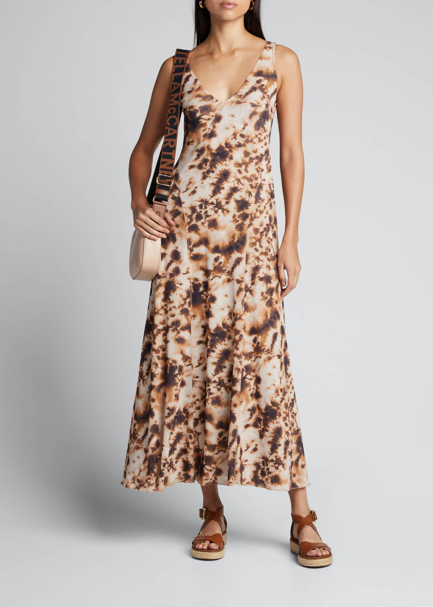 Image 1 of 5: Corrine Sleeveless Tie-Dye Long Dress