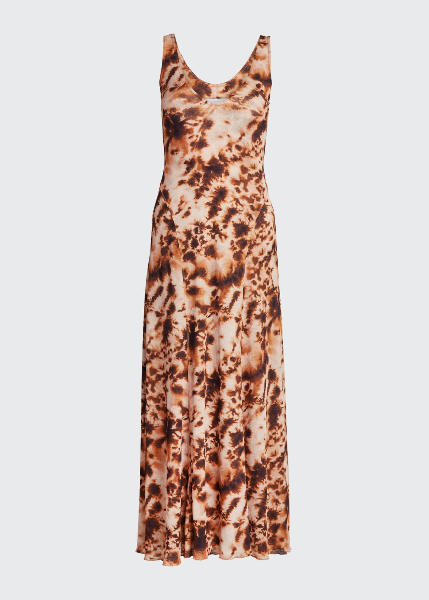 Image 5 of 5: Corrine Sleeveless Tie-Dye Long Dress