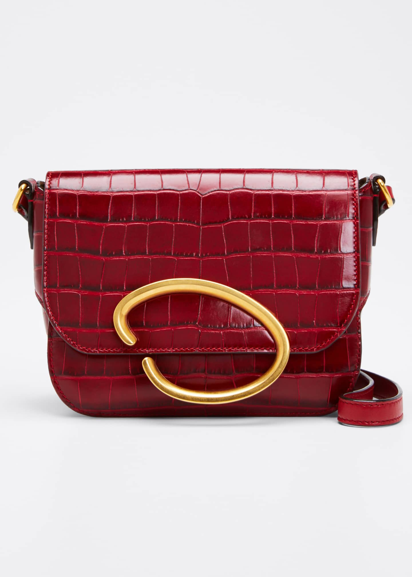 Oscar de la Renta Oath Mock-Croc Leather Shoulder