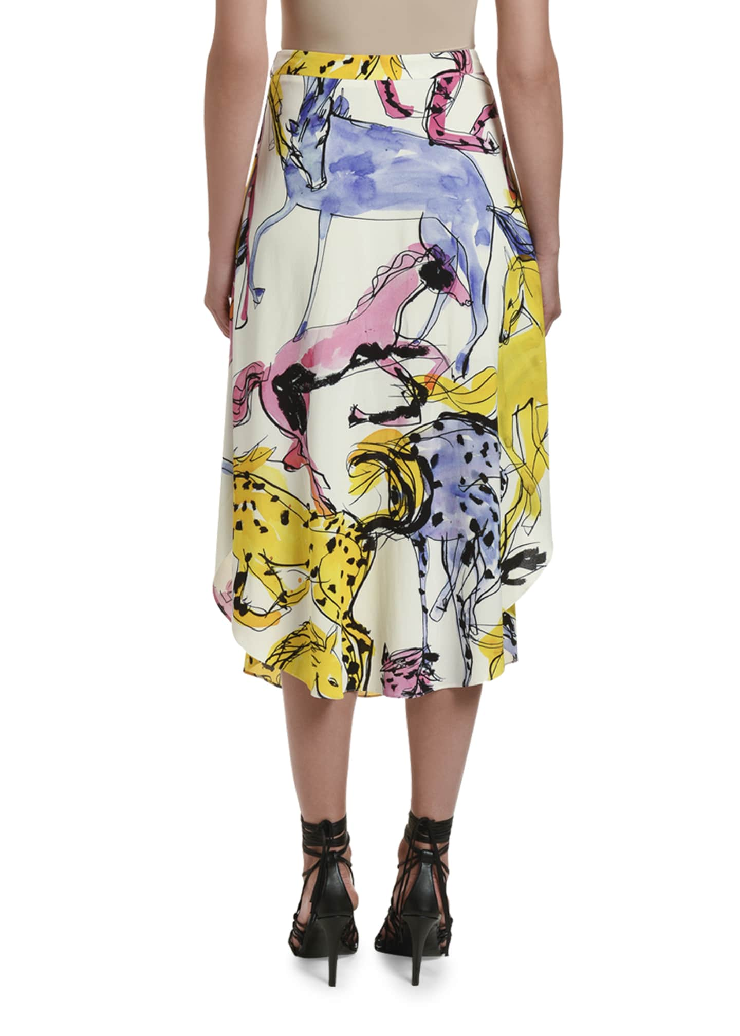 Image 2 of 2: Multicolor Midi Skirt