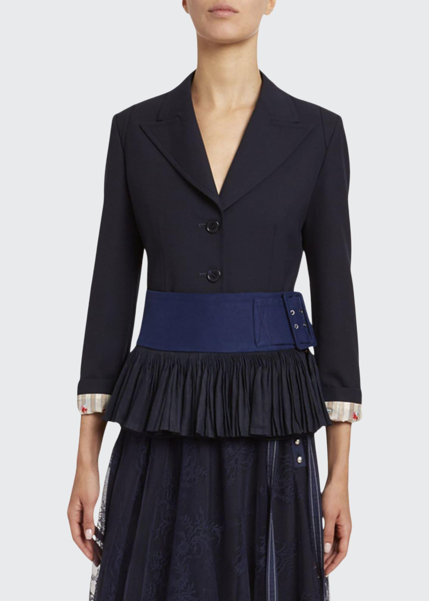 Chloe Stretch Wool Peplum Jacket