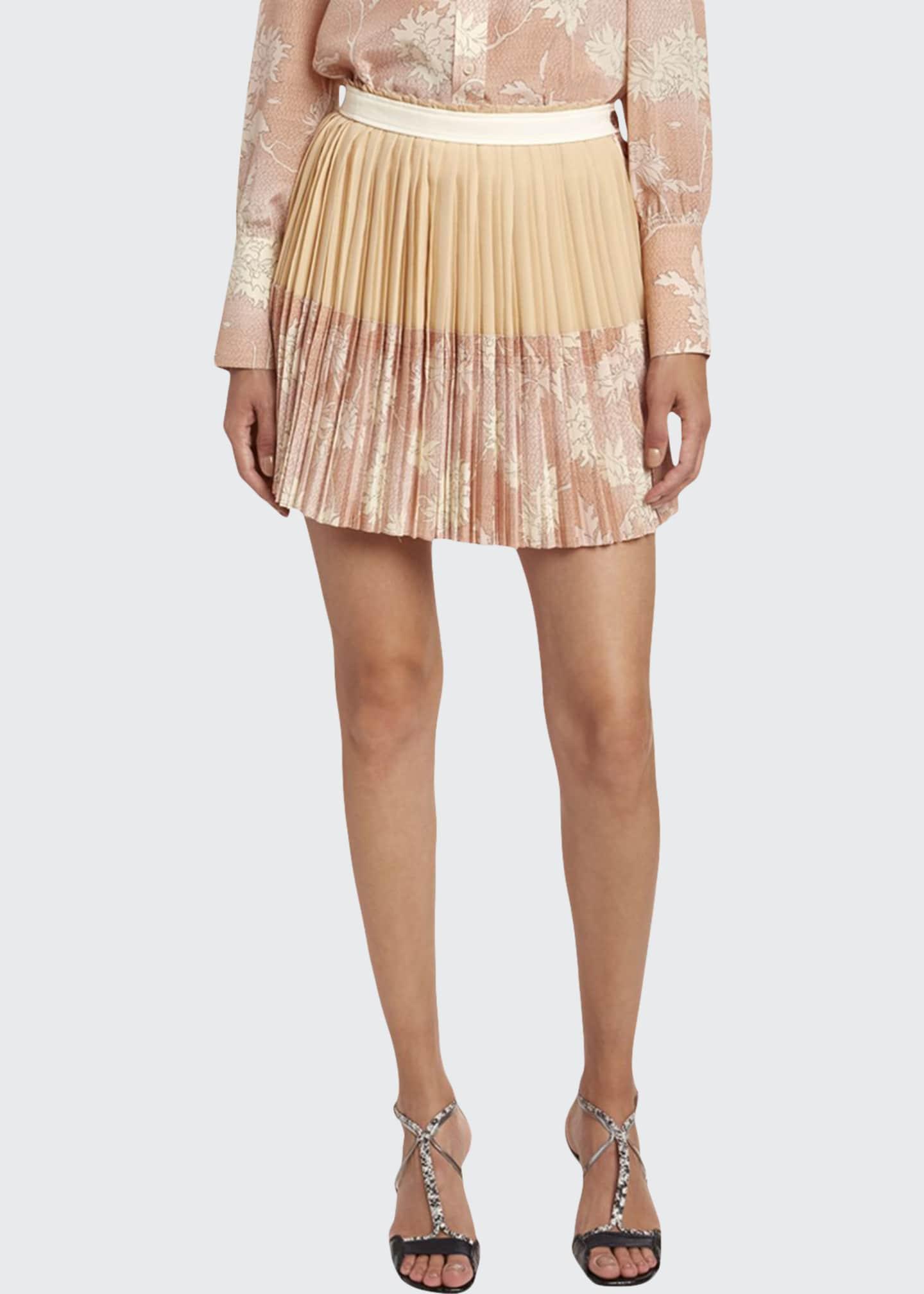 Chloe Scale Print Crepe de Chine Skirt