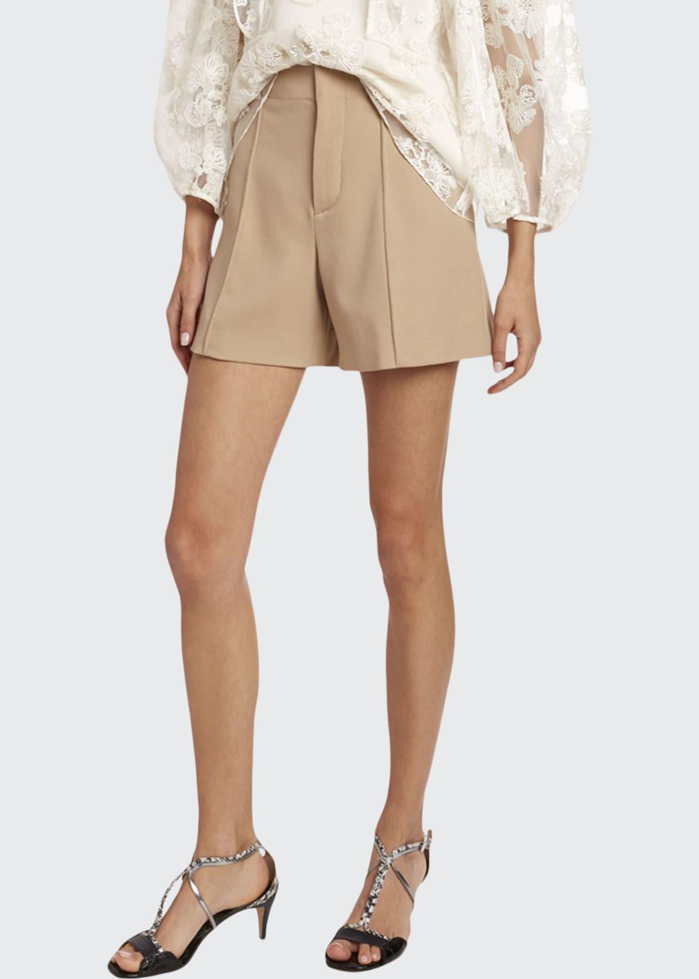 Chloe Wool Crepe Shorts