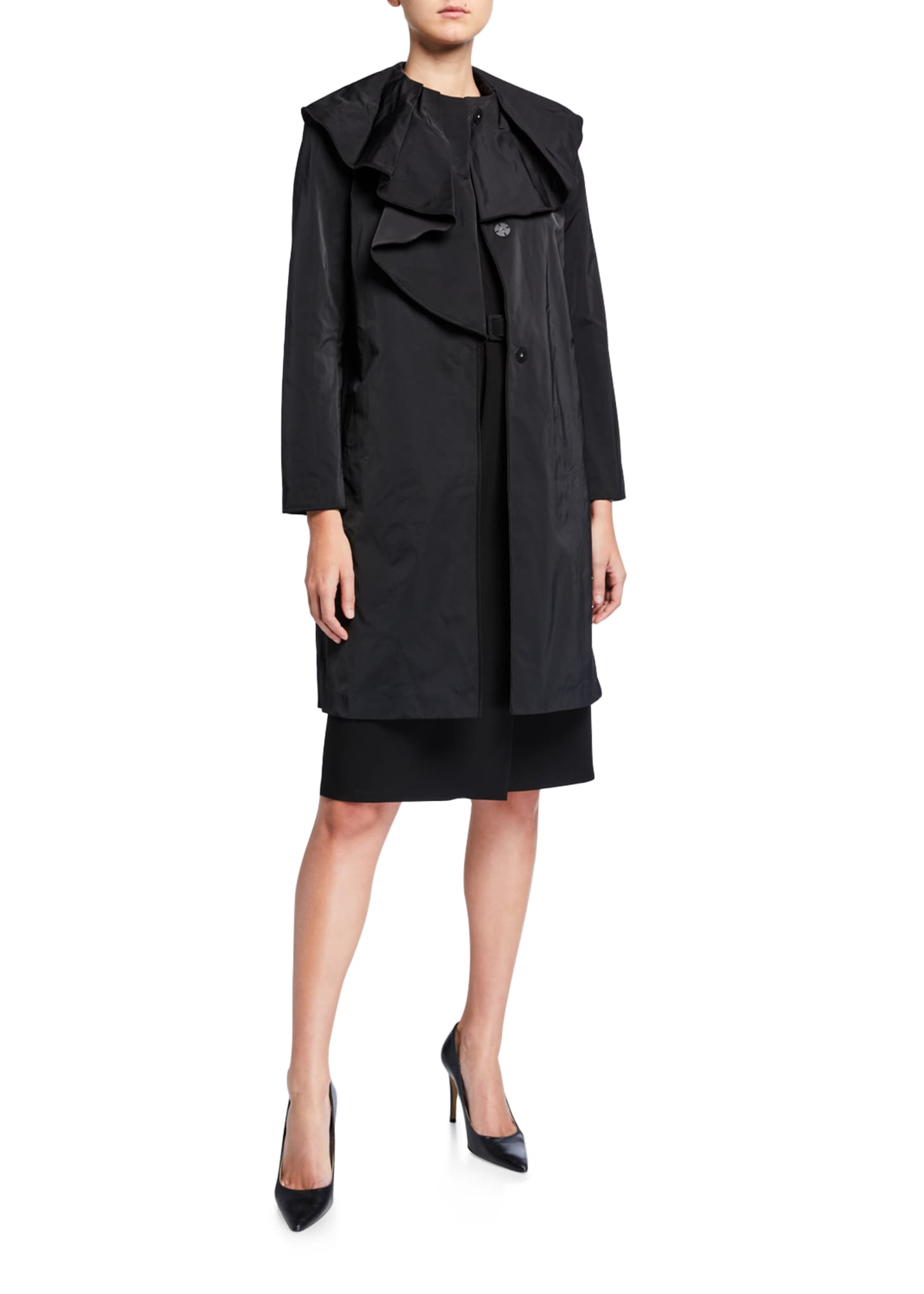Lafayette 148 New York Constance Button-Front Chic Coat