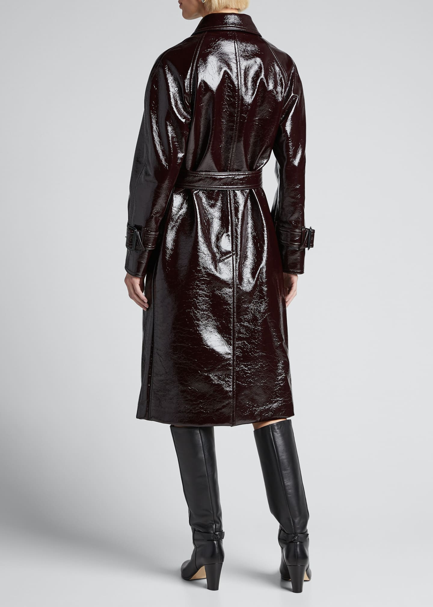 Image 2 of 5: Coated Felt Trench Coat