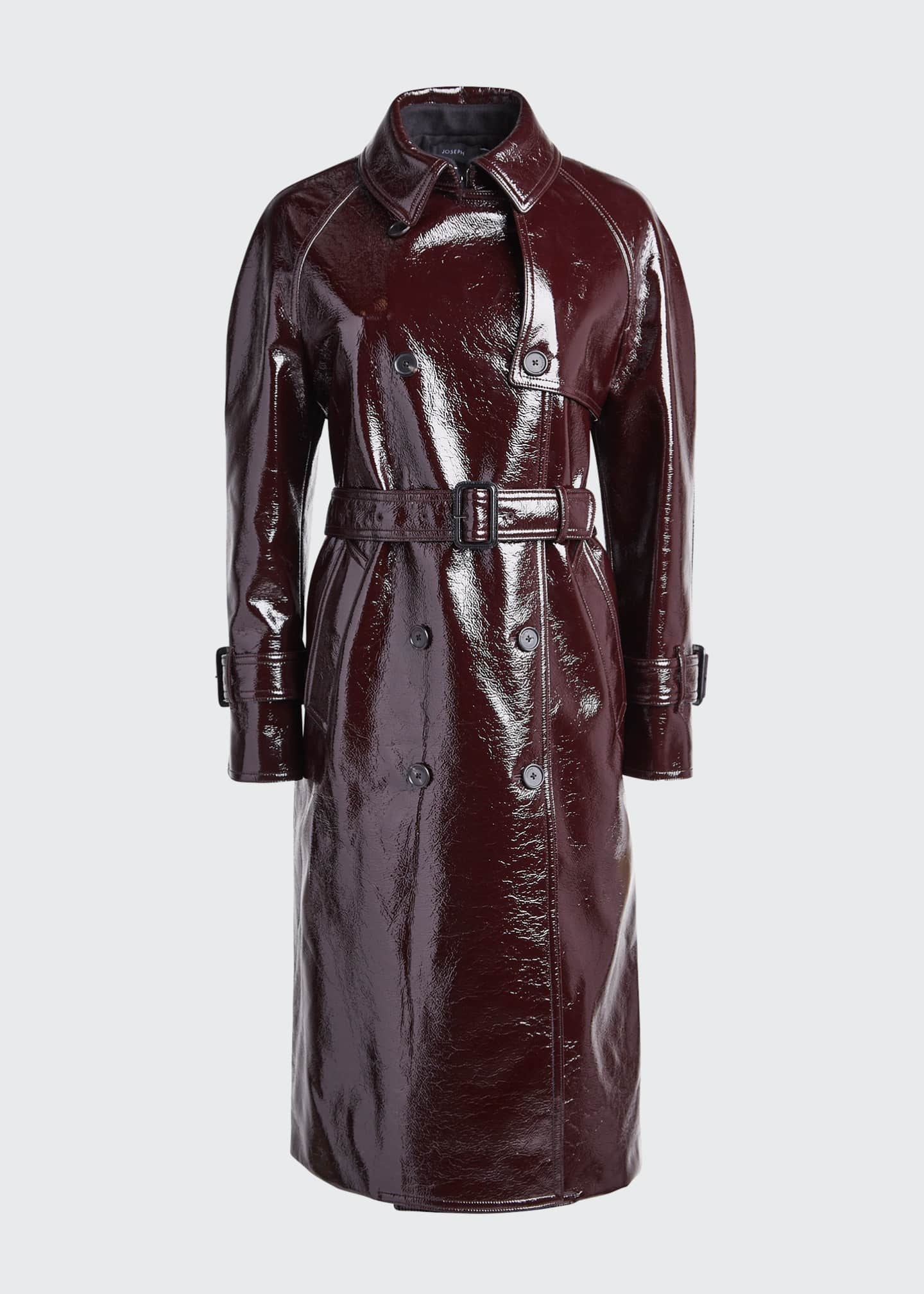 Image 5 of 5: Coated Felt Trench Coat