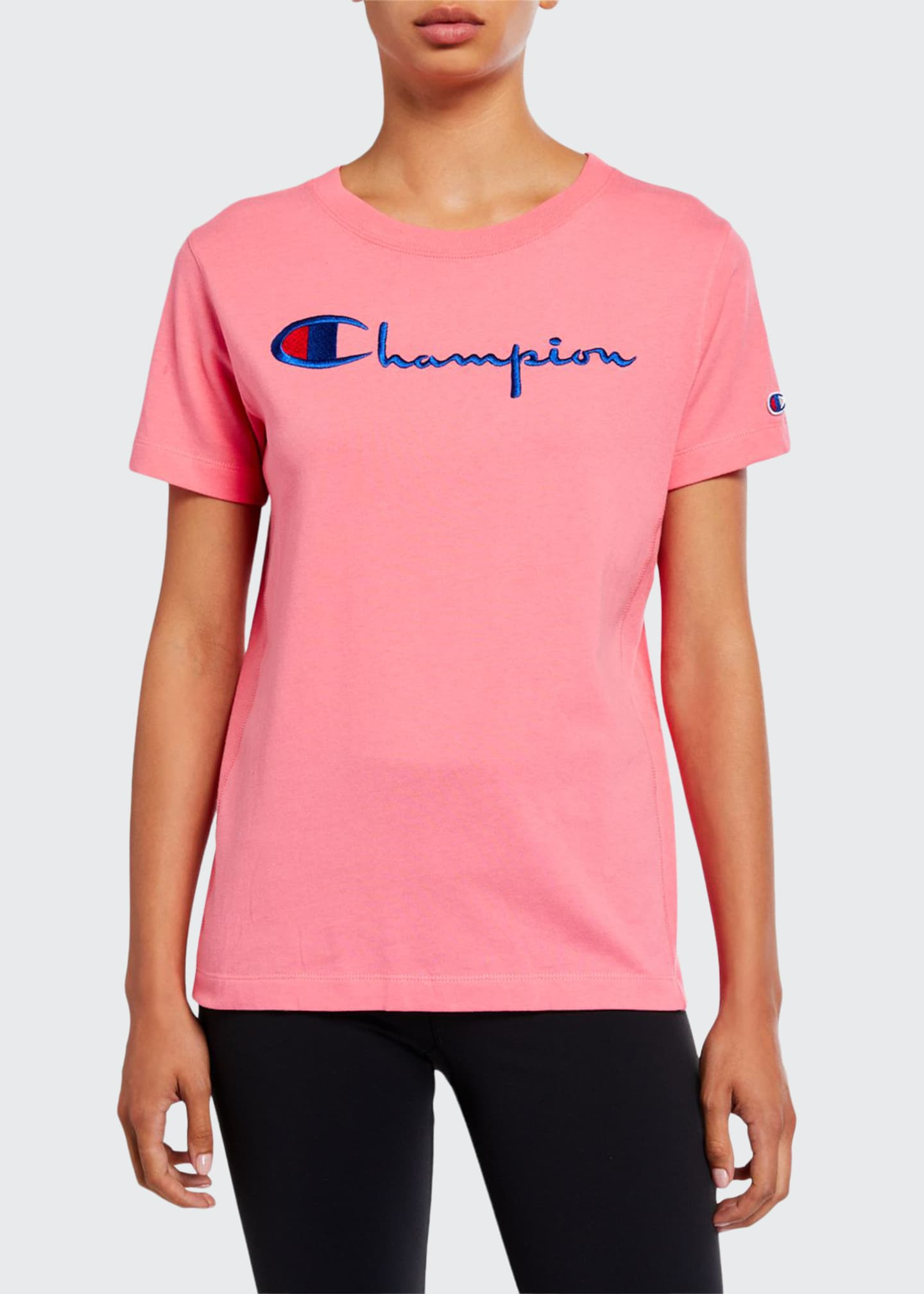 Champion Europe Reverse Weave Big Script Crewneck Short-Sleeve